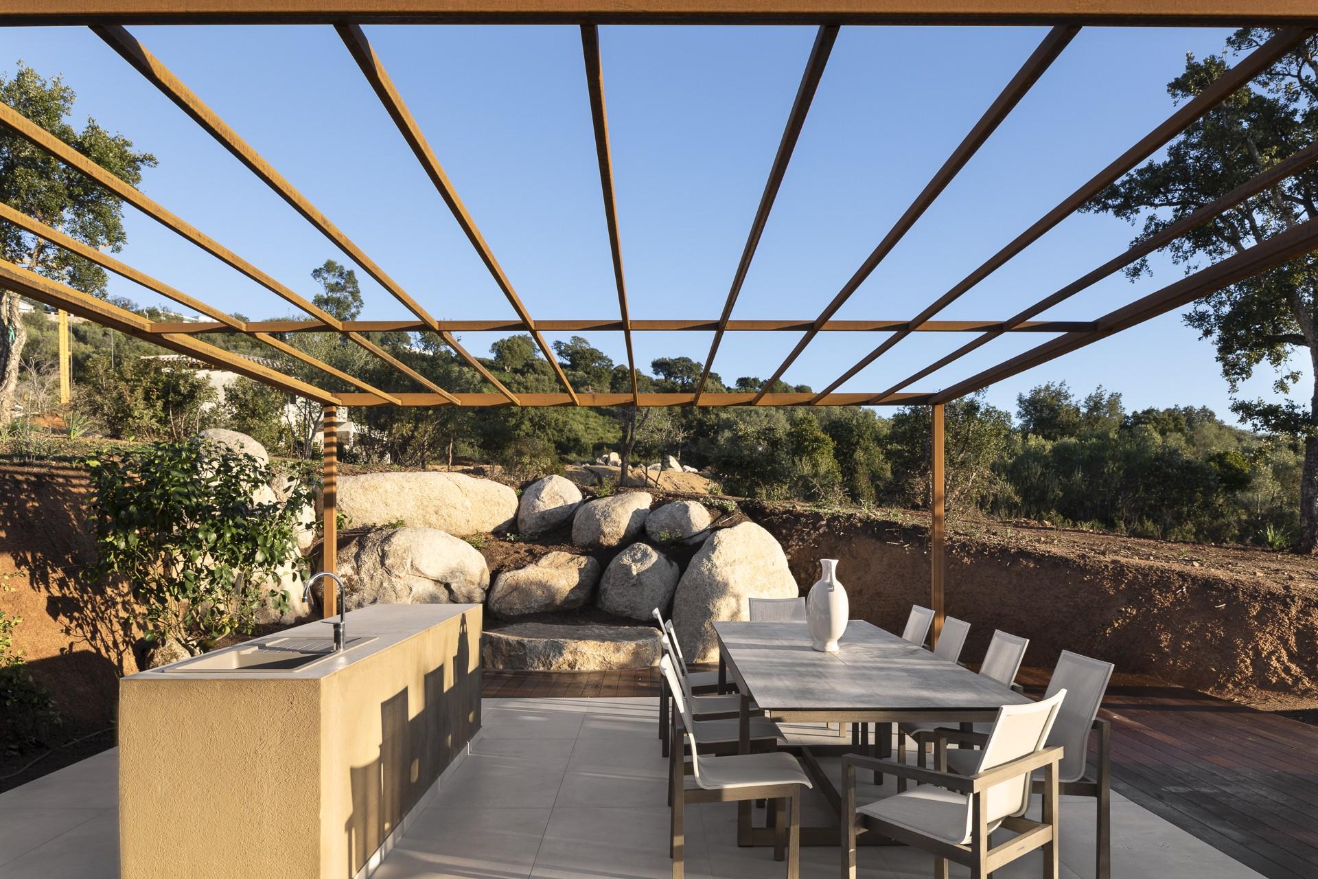 Porto Vecchio Luxury Rental Villa Perle Outdoor Dining Room