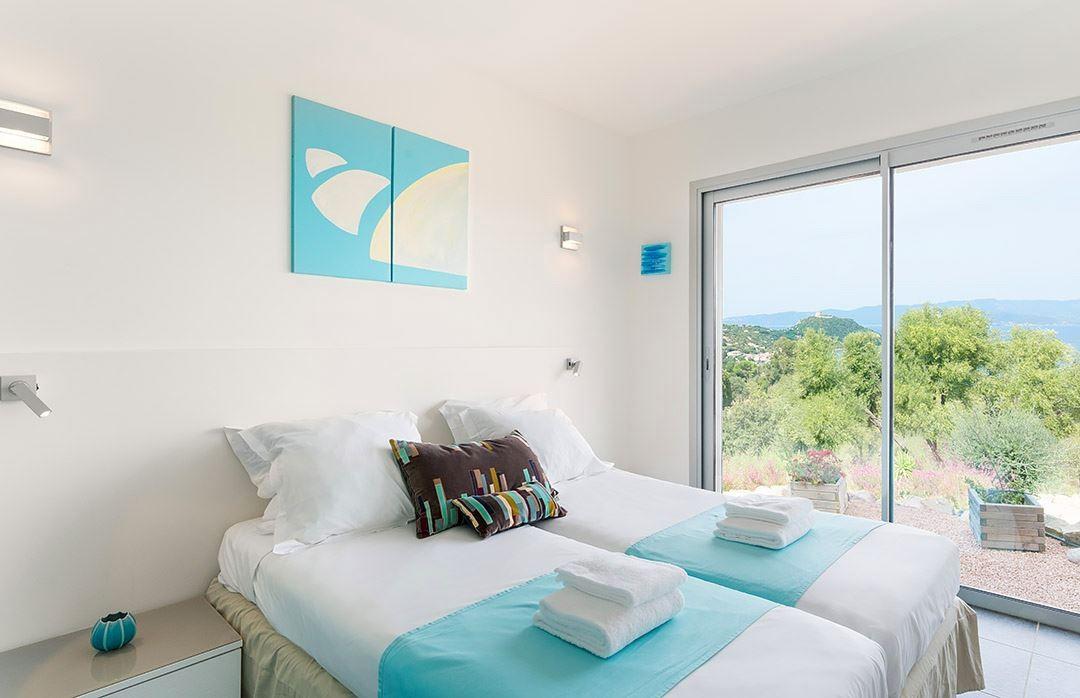 Propriano Location Villa Luxe Preles Chambre