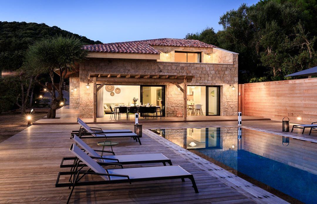 Propriano Location Villa Luxe Prelis Nuit