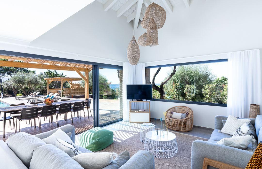 Propriano Location Villa Luxe Prelis Salon