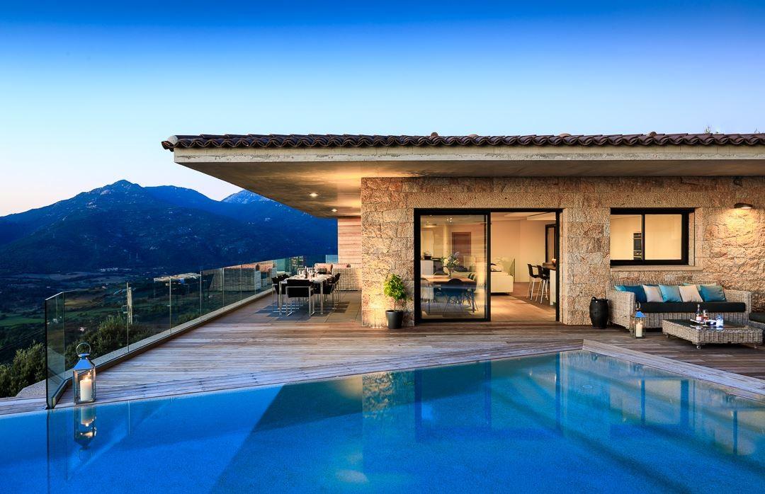 Propriano Location Villa Luxe Prelus Nuit