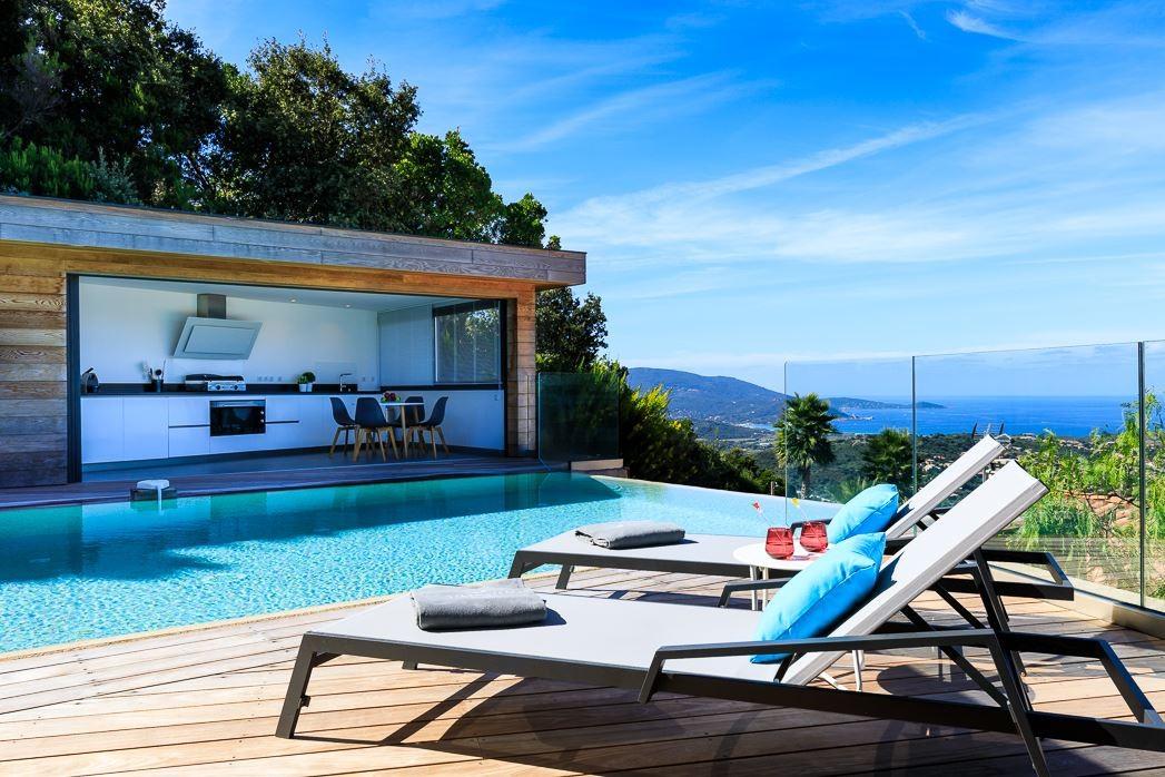 Propriano Location Villa Luxe Prelus Transats