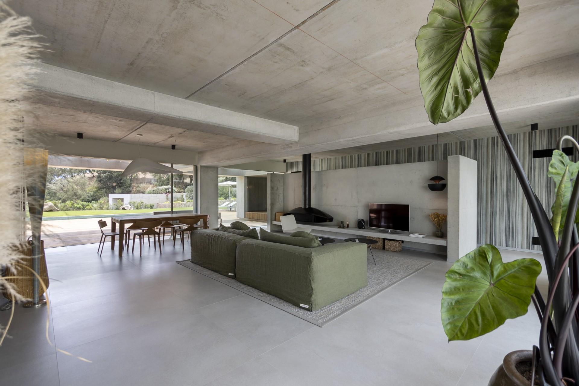 Propriano Luxury Rental Villa Pyrale Living Room