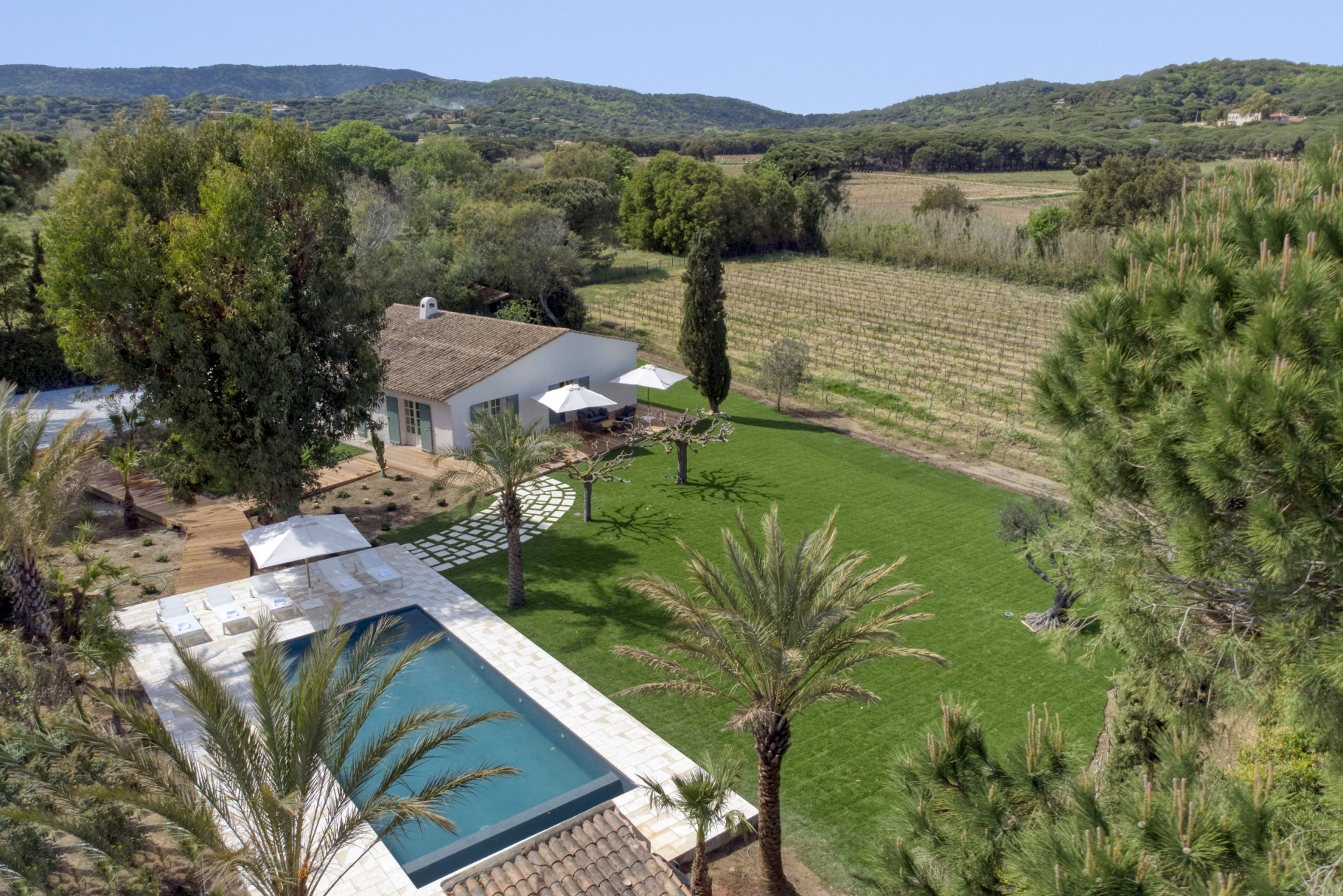 Ramatuelle Location Villa Luxe Bomakite Vue Piscine