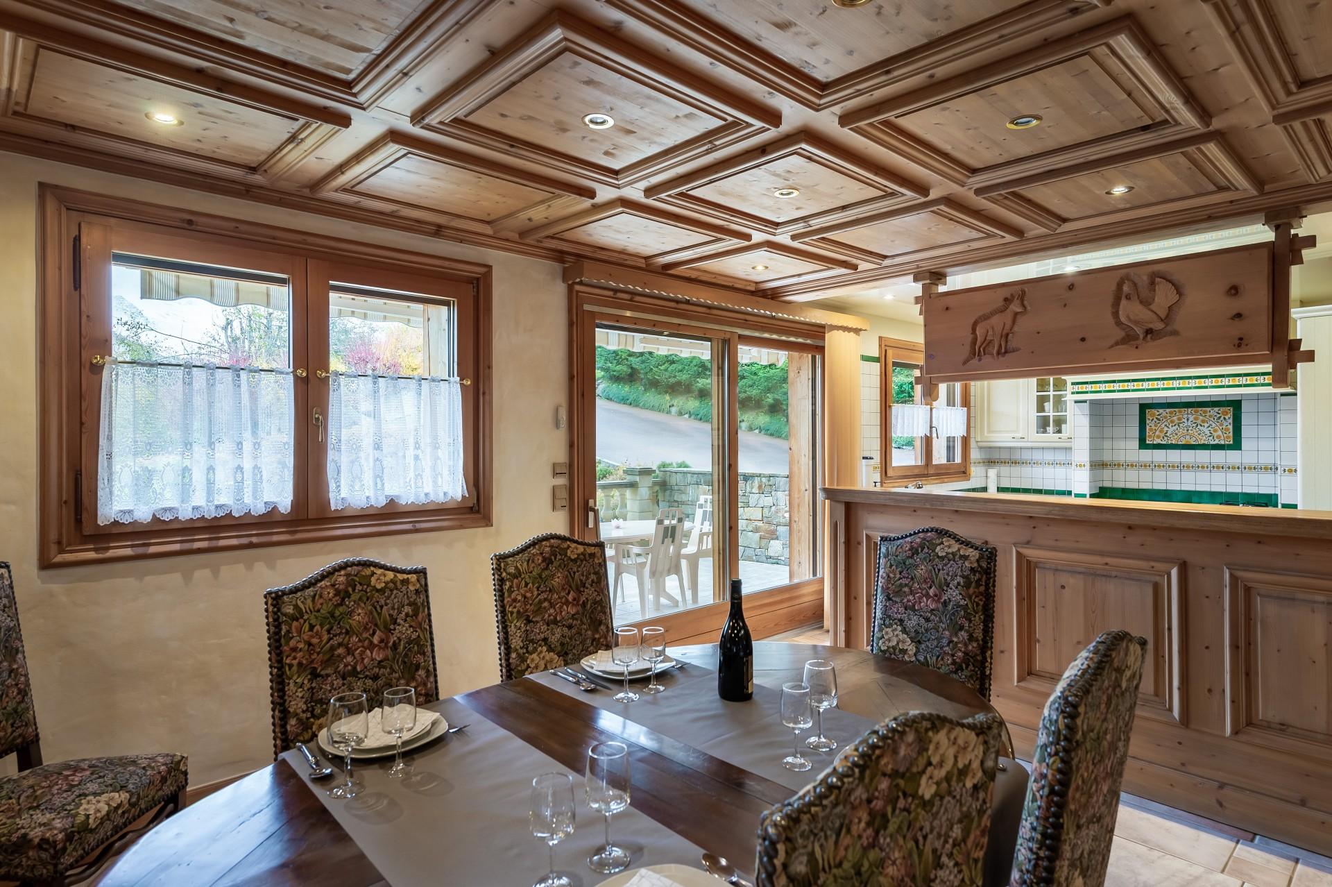 Saint Gervais Luxury Rental Chalet Galena Dining Room 2