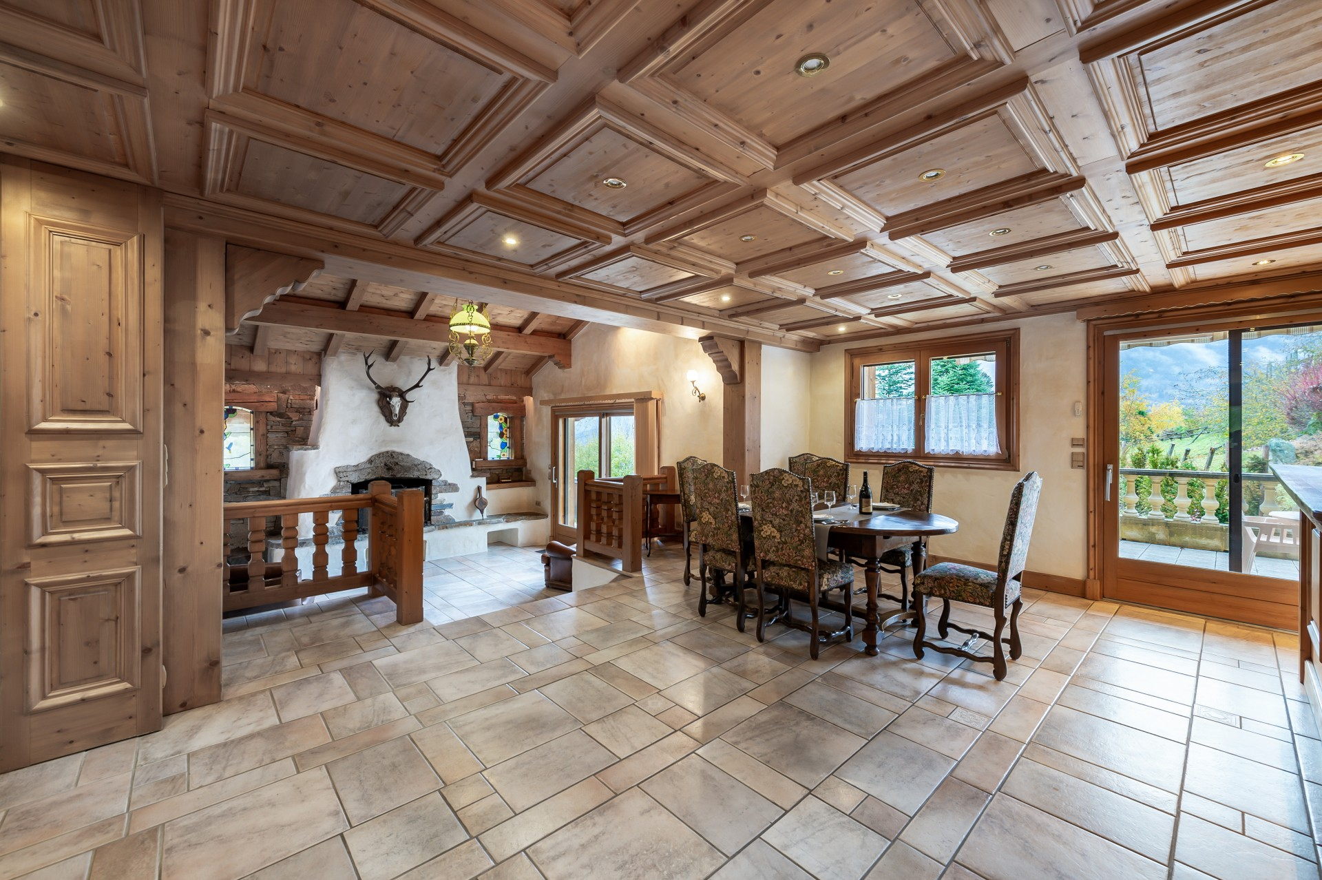 Saint Gervais Luxury Rental Chalet Galena Dining Room
