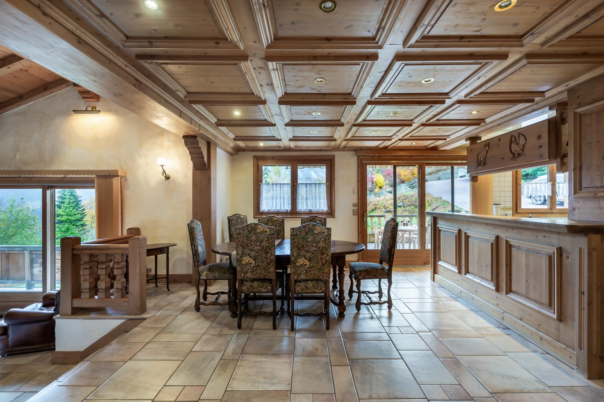 Saint Gervais Luxury Rental Chalet Galena Dining Room 3