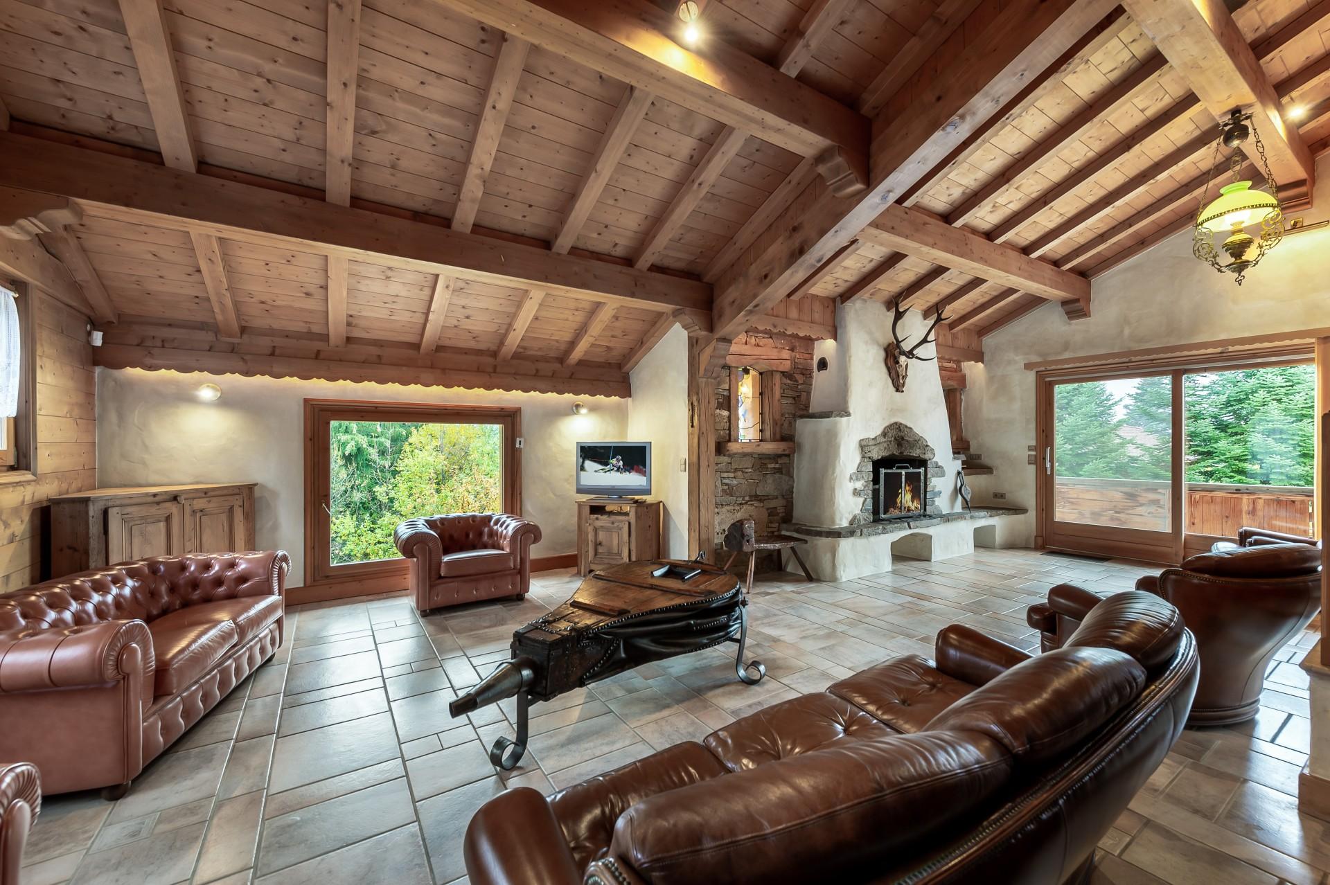 Saint Gervais Luxury Rental Chalet Galena Living Room 2