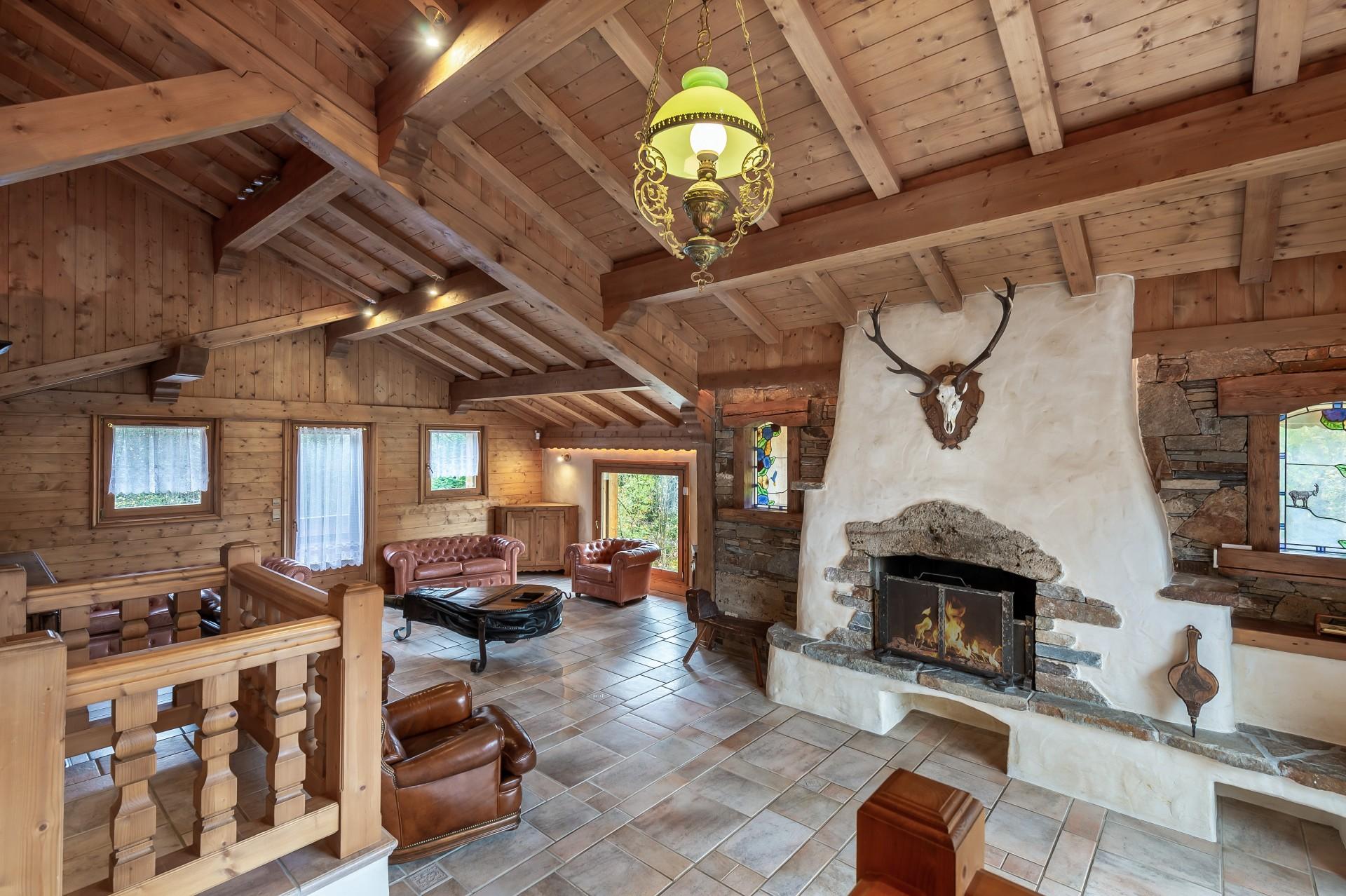 Saint Gervais Luxury Rental Chalet Galena Living Room