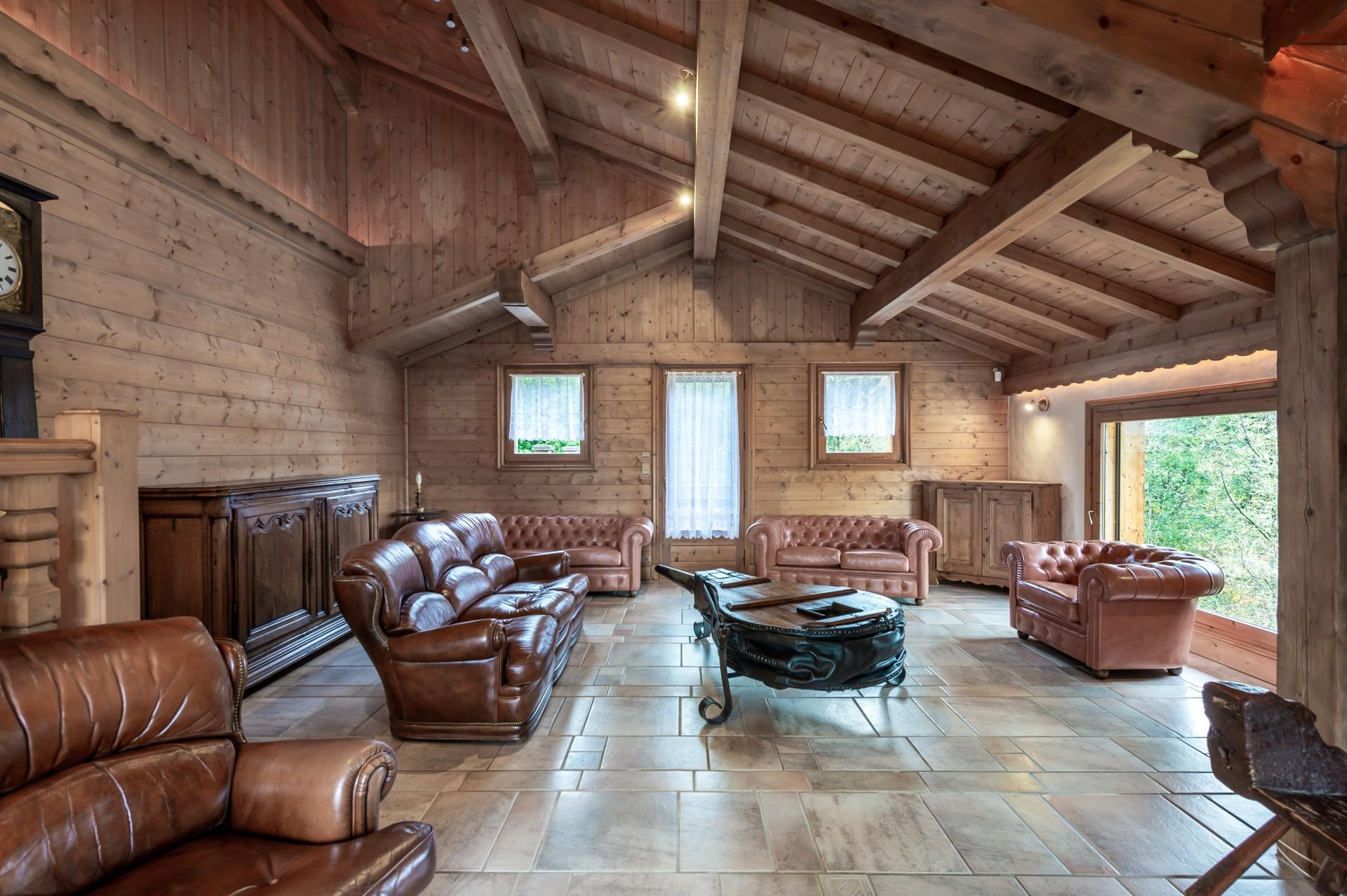Saint Gervais Luxury Rental Chalet Galena Living Room 3