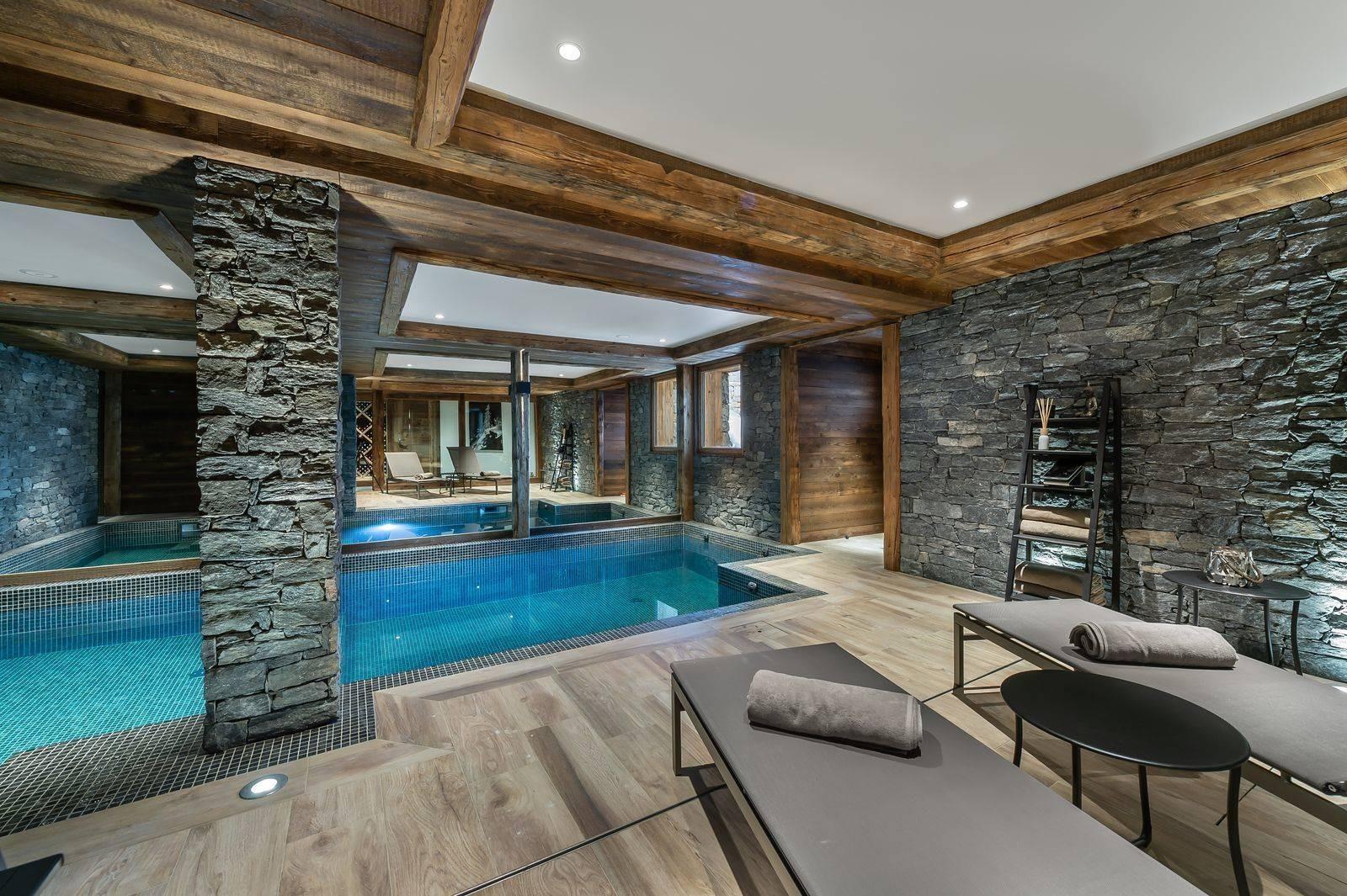 Saint Martin De Belleville Luxury Rental Chalet Ipaliu Pool