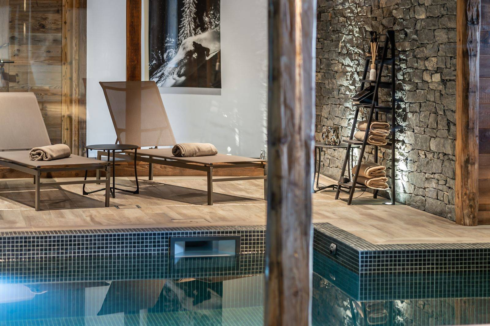Saint Martin De Belleville Luxury Rental Chalet Ipaliu Pool 2
