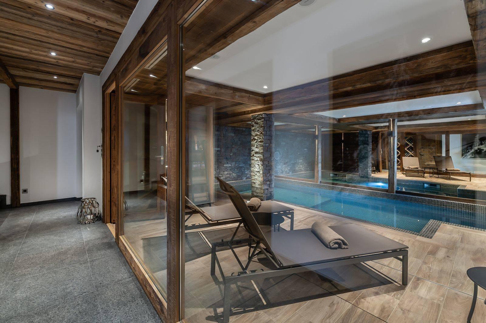 Saint Martin De Belleville Luxury Rental Chalet Ipaliu Pool 3