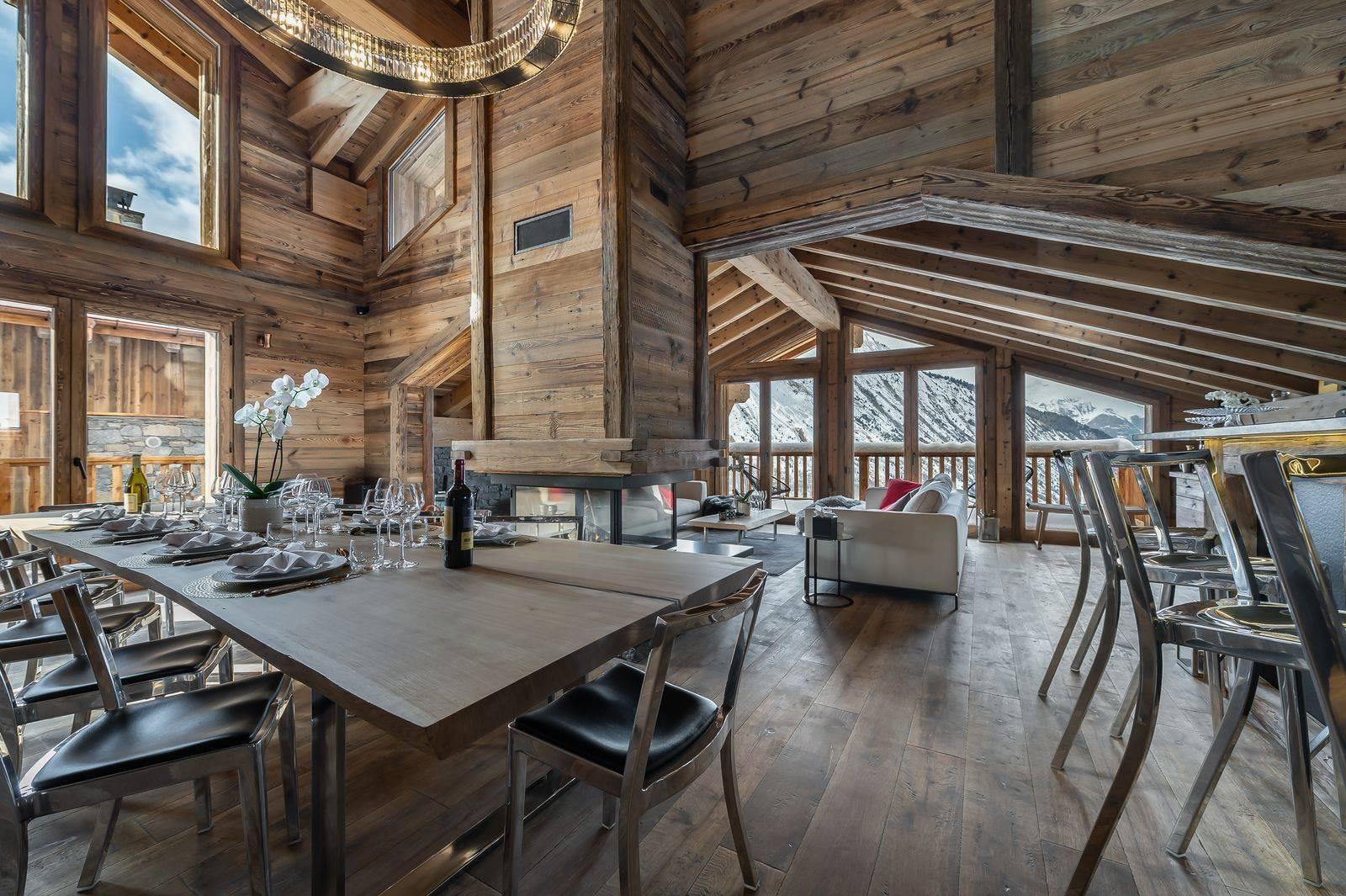 Saint Martin De Belleville Luxury Rental Chalet Ipaliu Dining Room 2