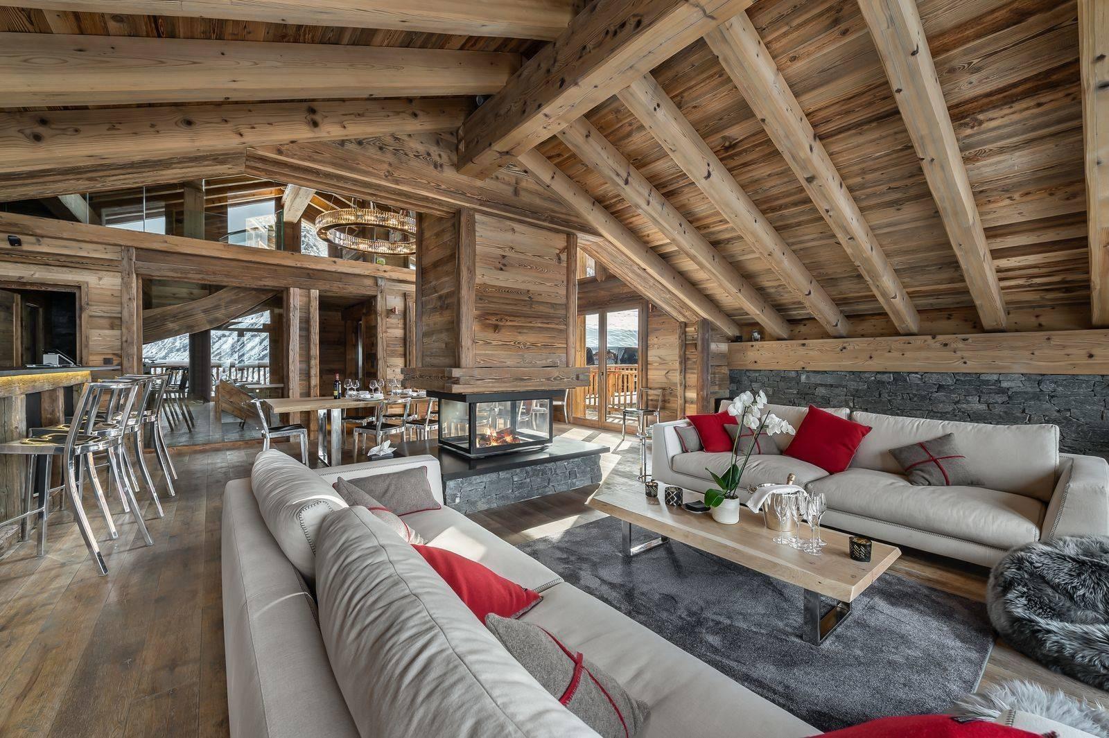 Saint Martin De Belleville Luxury Rental Chalet Ipaliu Living Room