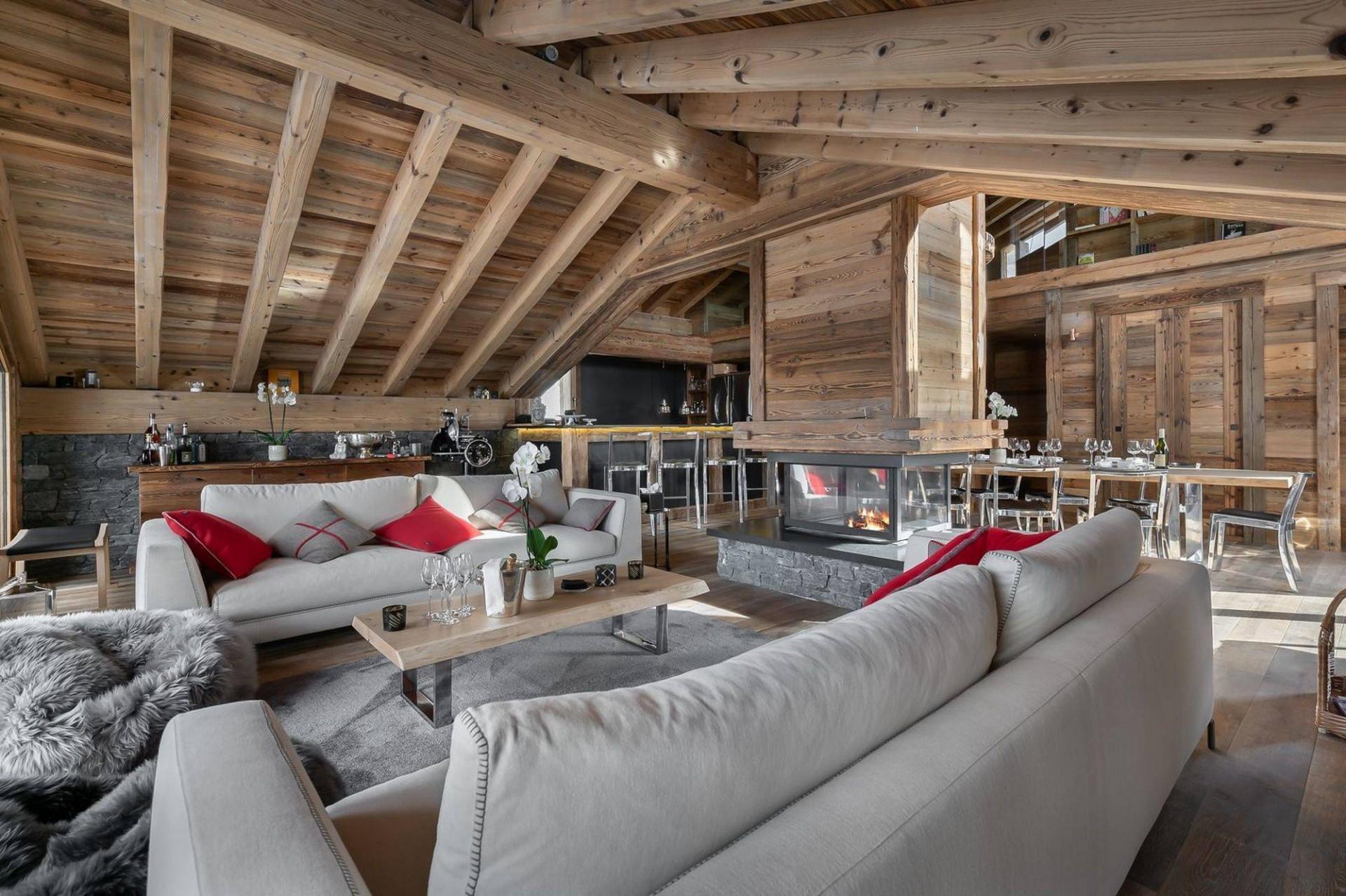 Saint Martin De Belleville Luxury Rental Chalet Ipaliu Living Room 3