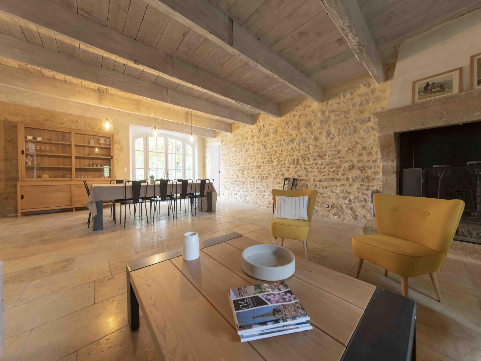 Saint Rémy De Provence Location Villa Luxe Mercasite Séjour