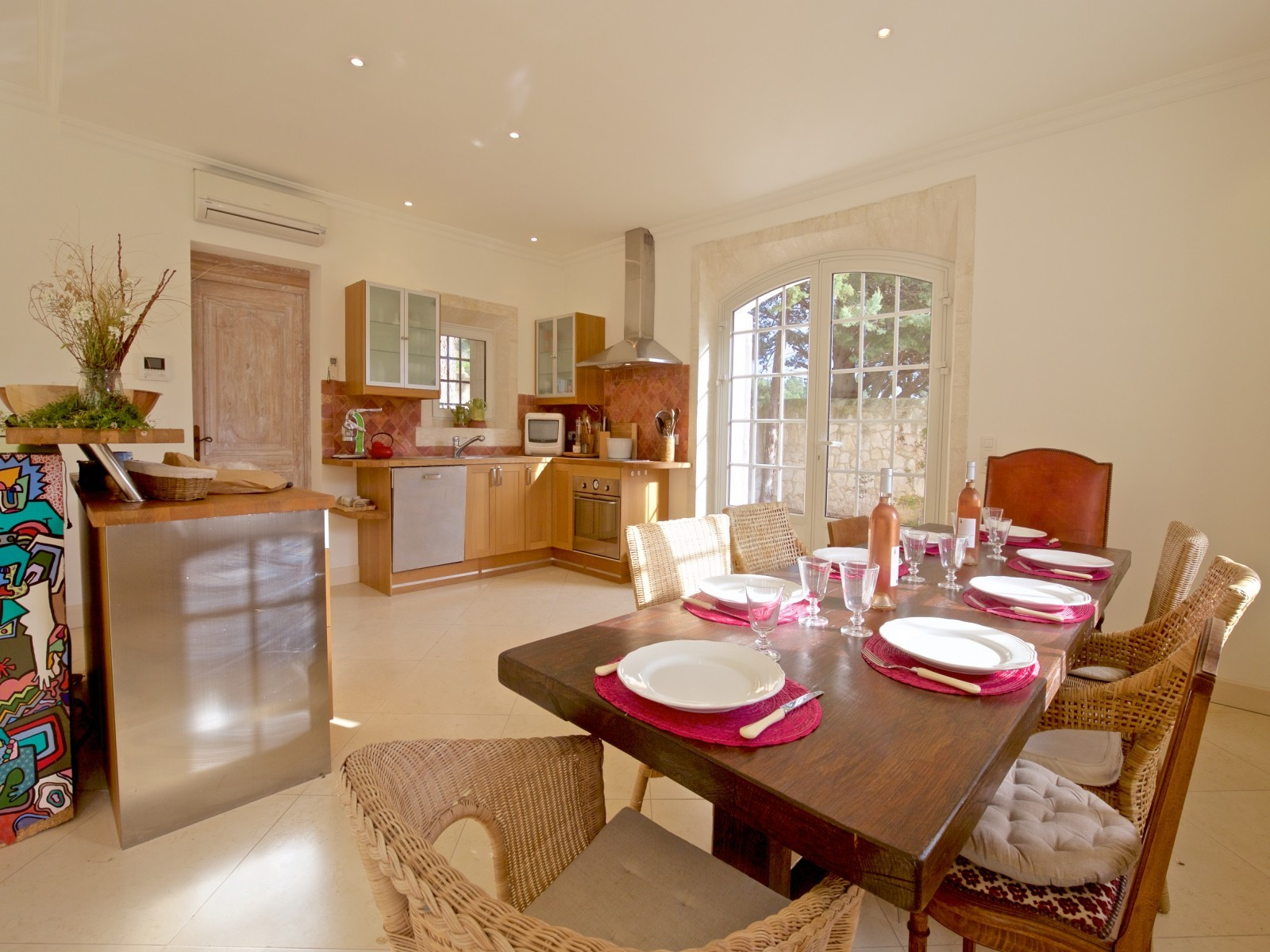 Saint Rémy De Provence Luxury Rental Villa Molduvite Dining Room