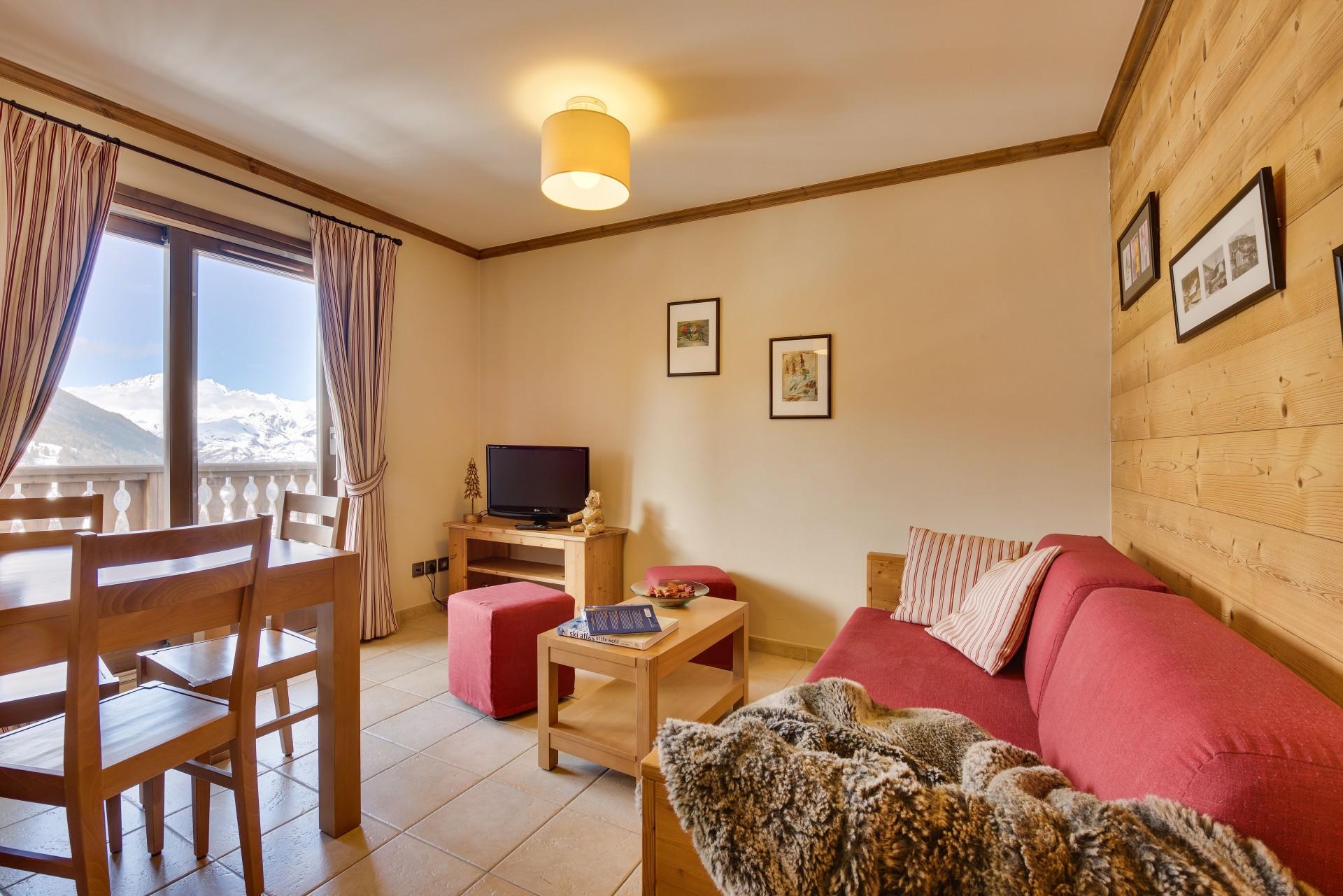 Sainte Foy Tarentaise Location Appartement Luxe Russandite Salon