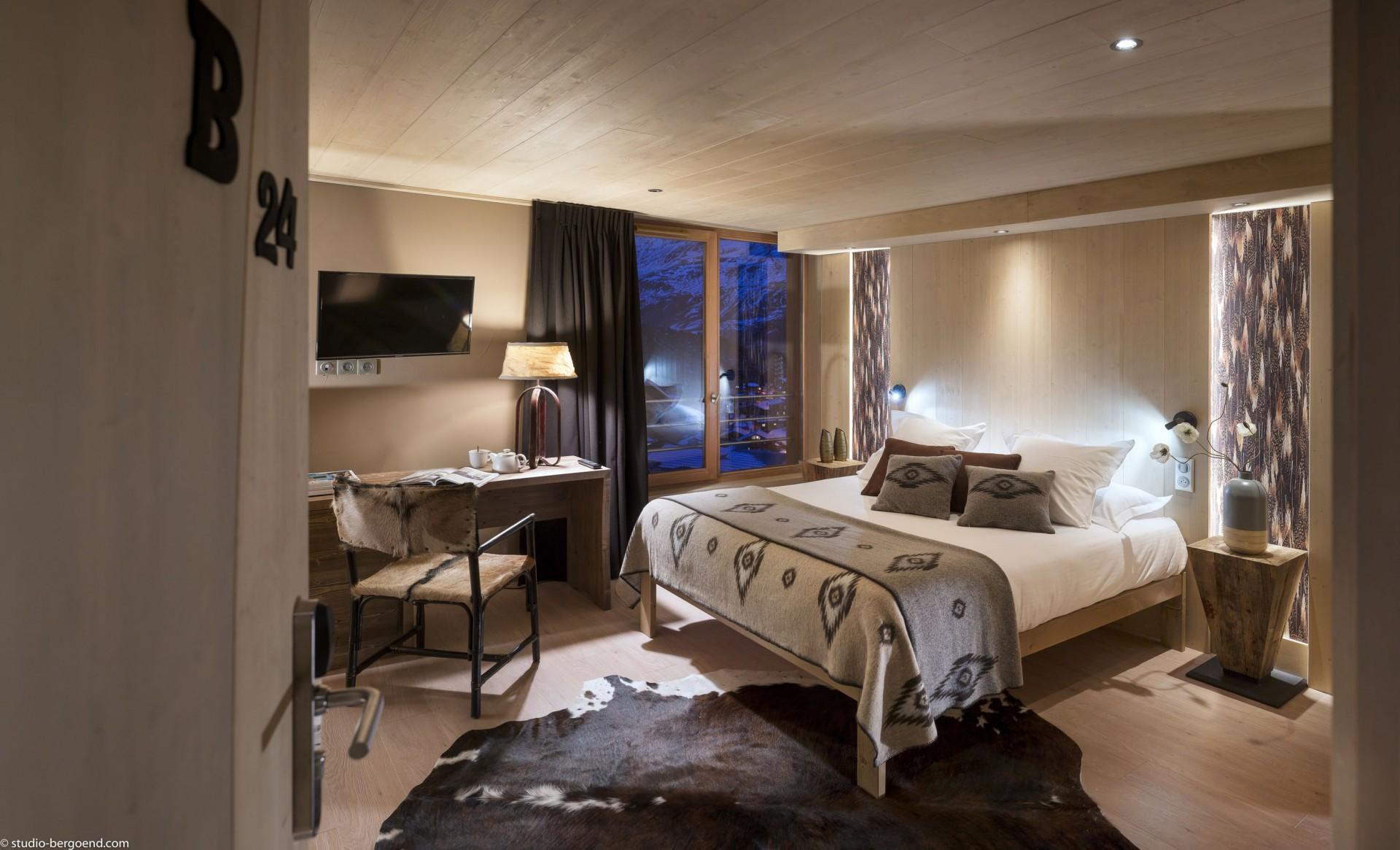 Tignes Location Appartement Luxe Kyaunite Chambre