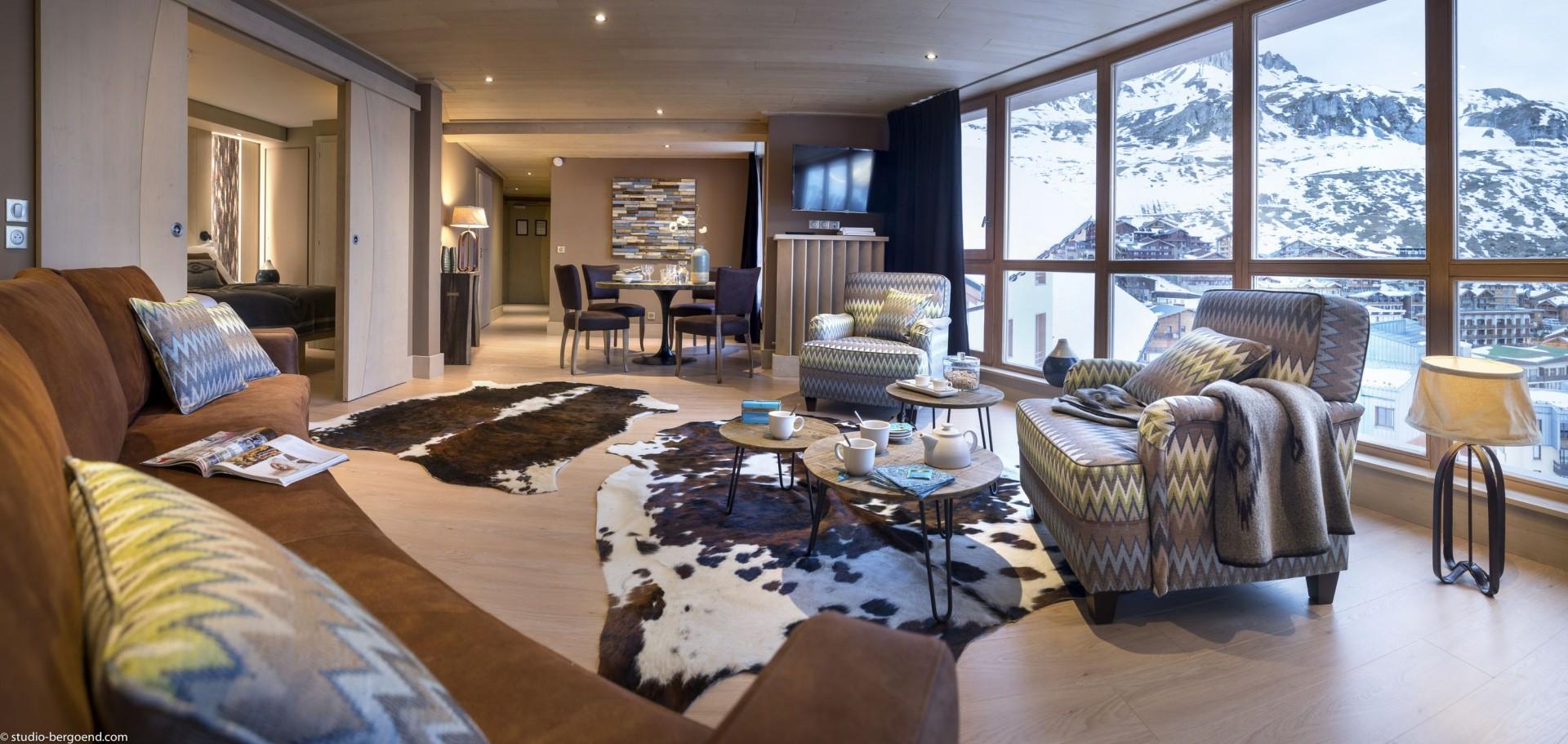 Tignes Location Appartement Luxe Kyaunite Salon