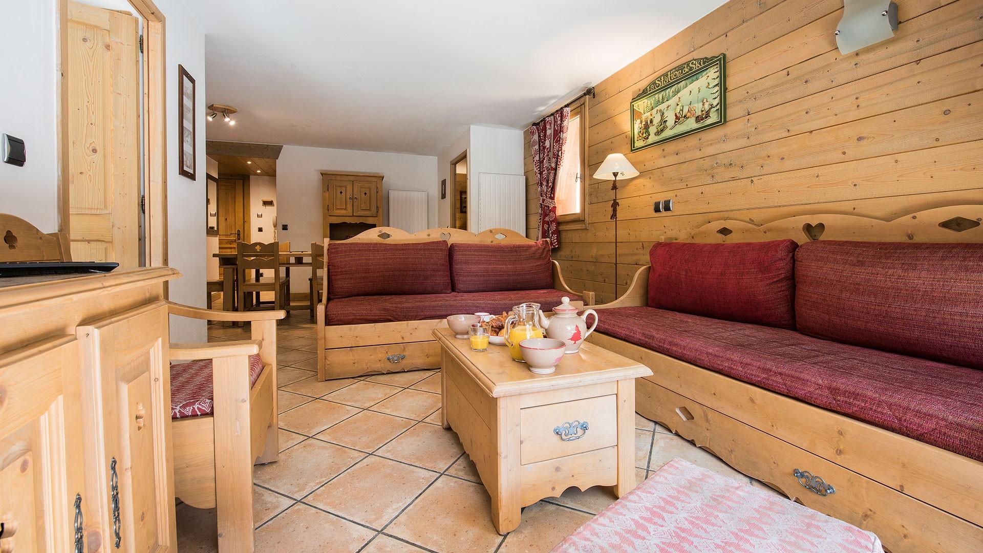 Tignes Location Appartement Luxe Mexican Agate Salon 1