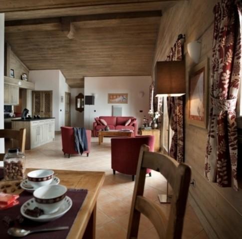 Tignes Location Appartement Luxe Mexican Onyx Salon