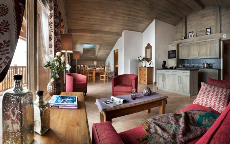 Tignes Location Appartement Luxe Mica Salon 1