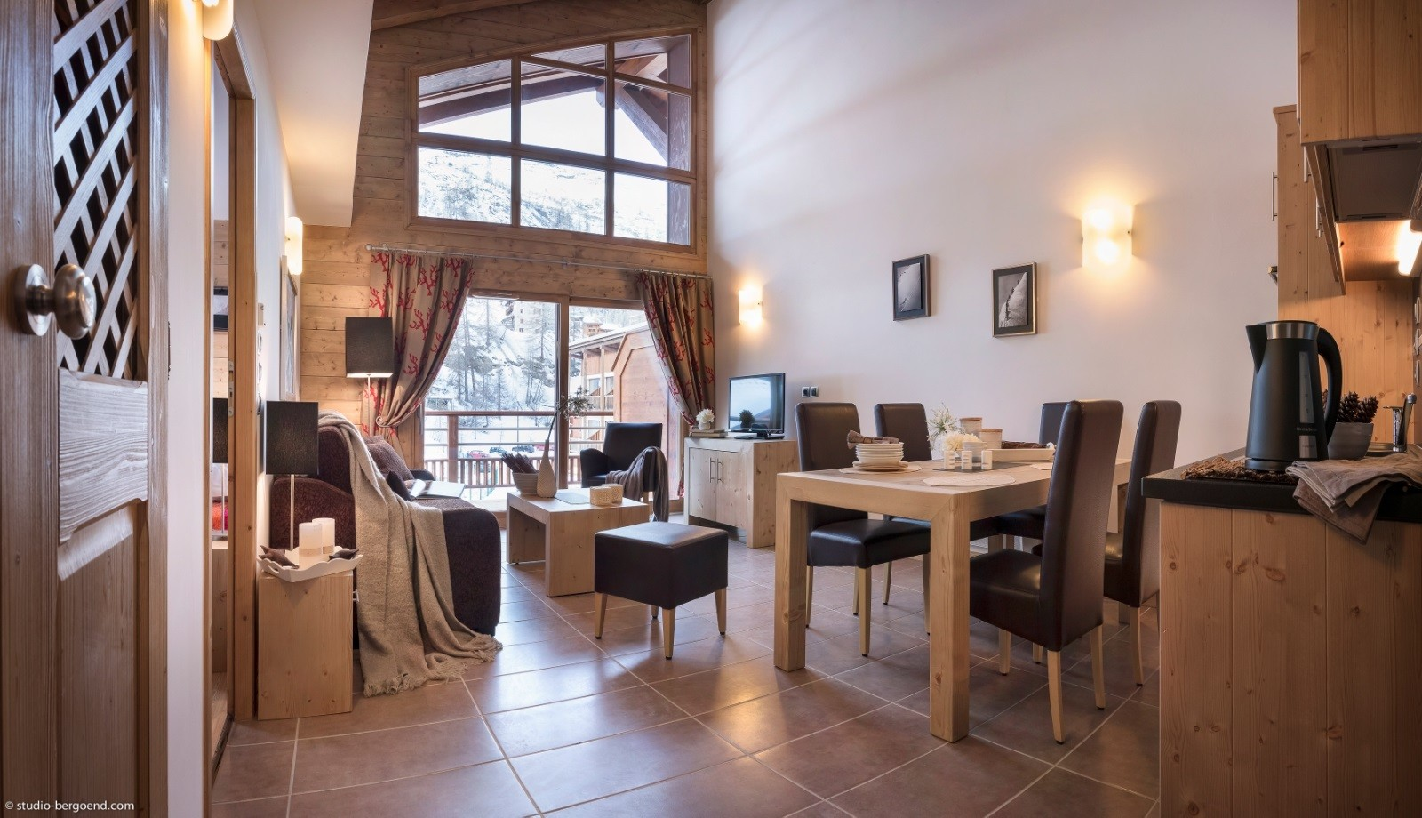 Tignes Location Appartement Luxe Micatis Salon