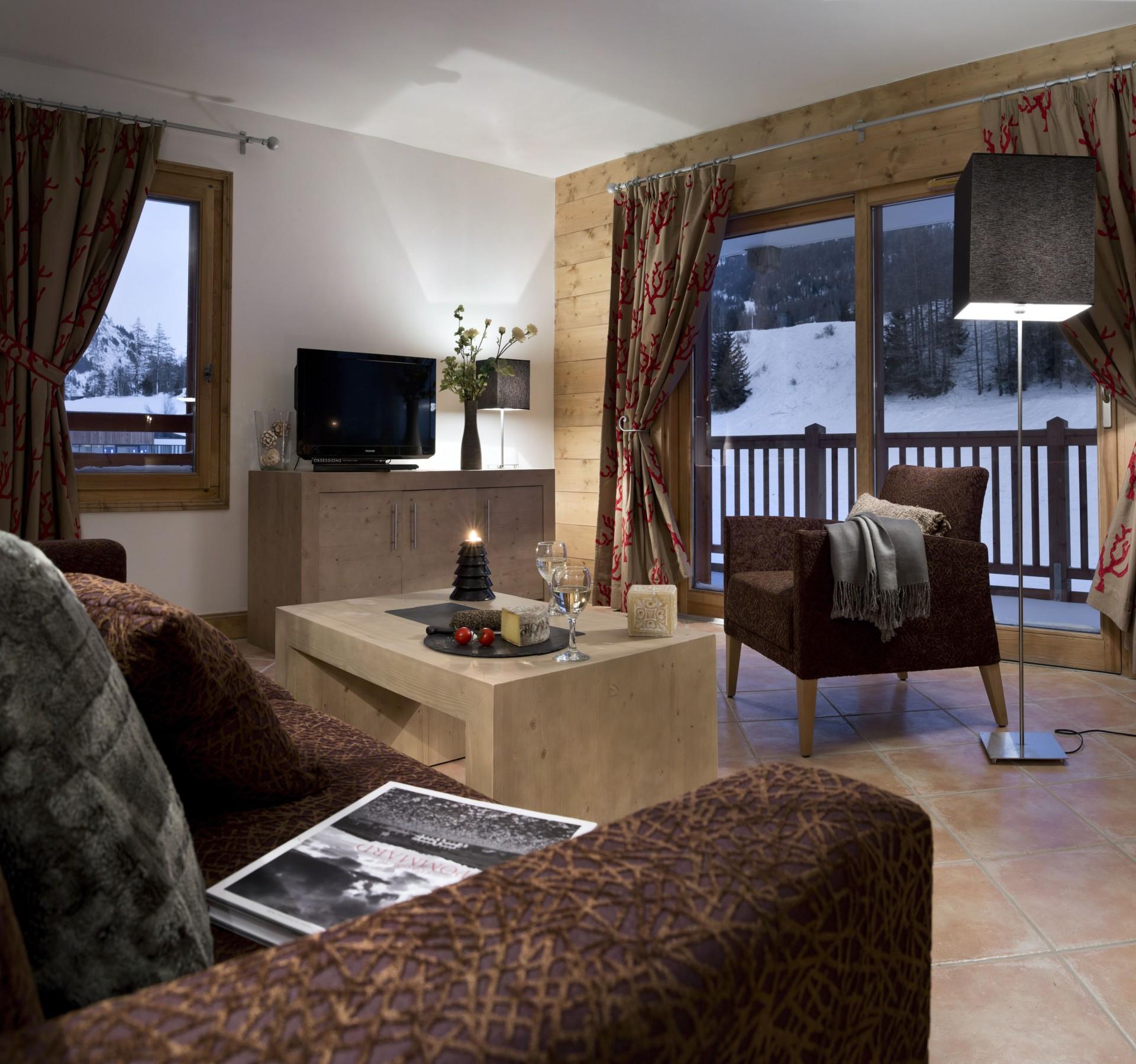Tignes Location Appartement Luxe Nadorine Salon