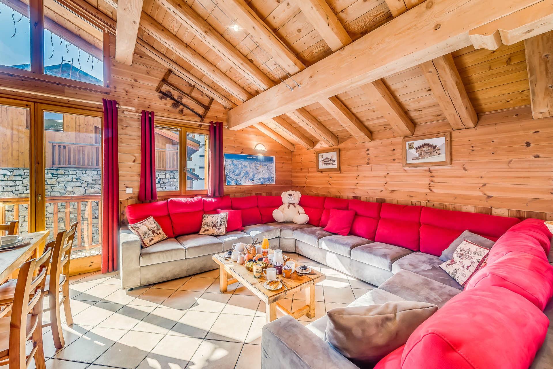Tignes Location Chalet Luxe Gikite Salon