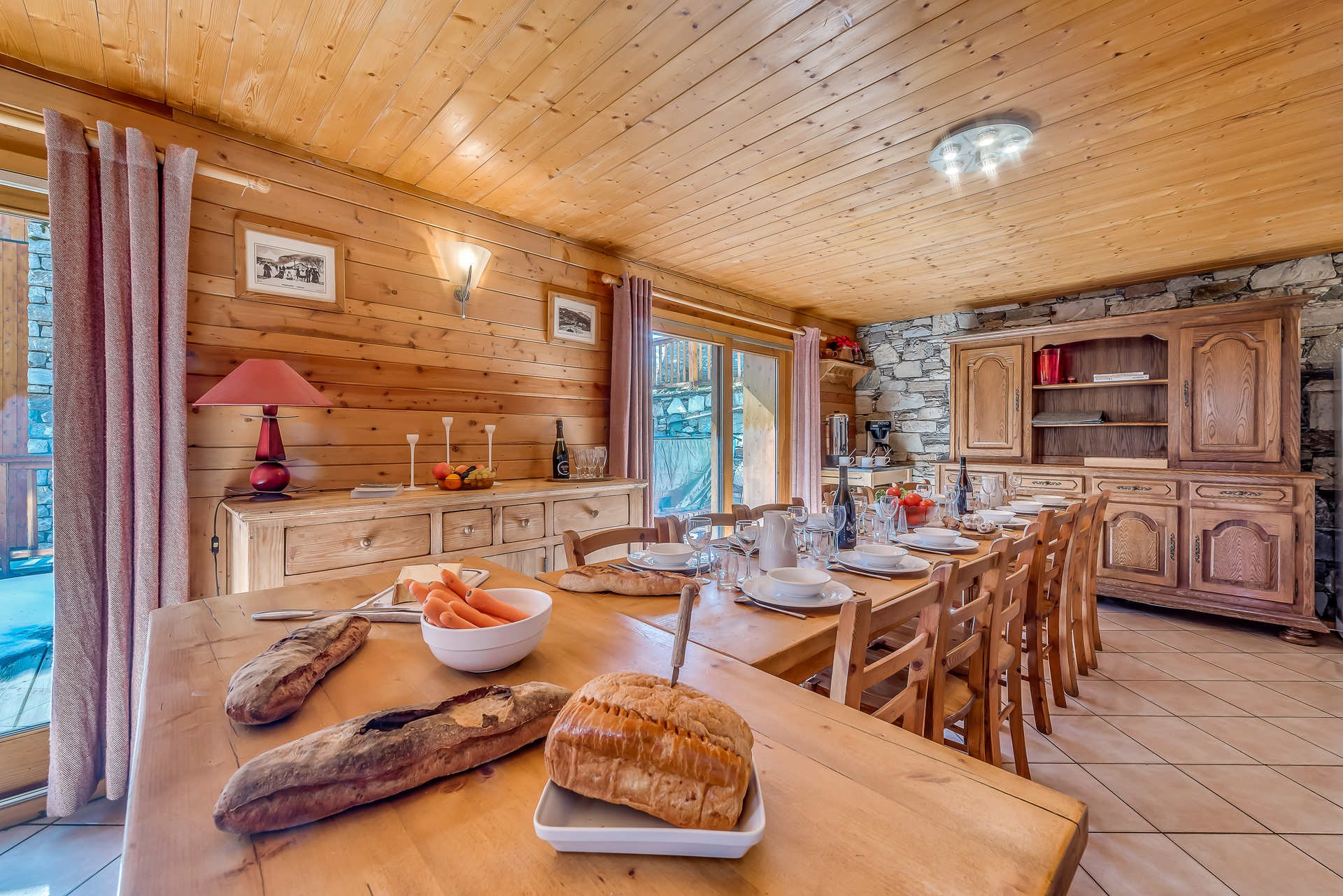 Tignes Location Chalet Luxe Gizite Table A Manger