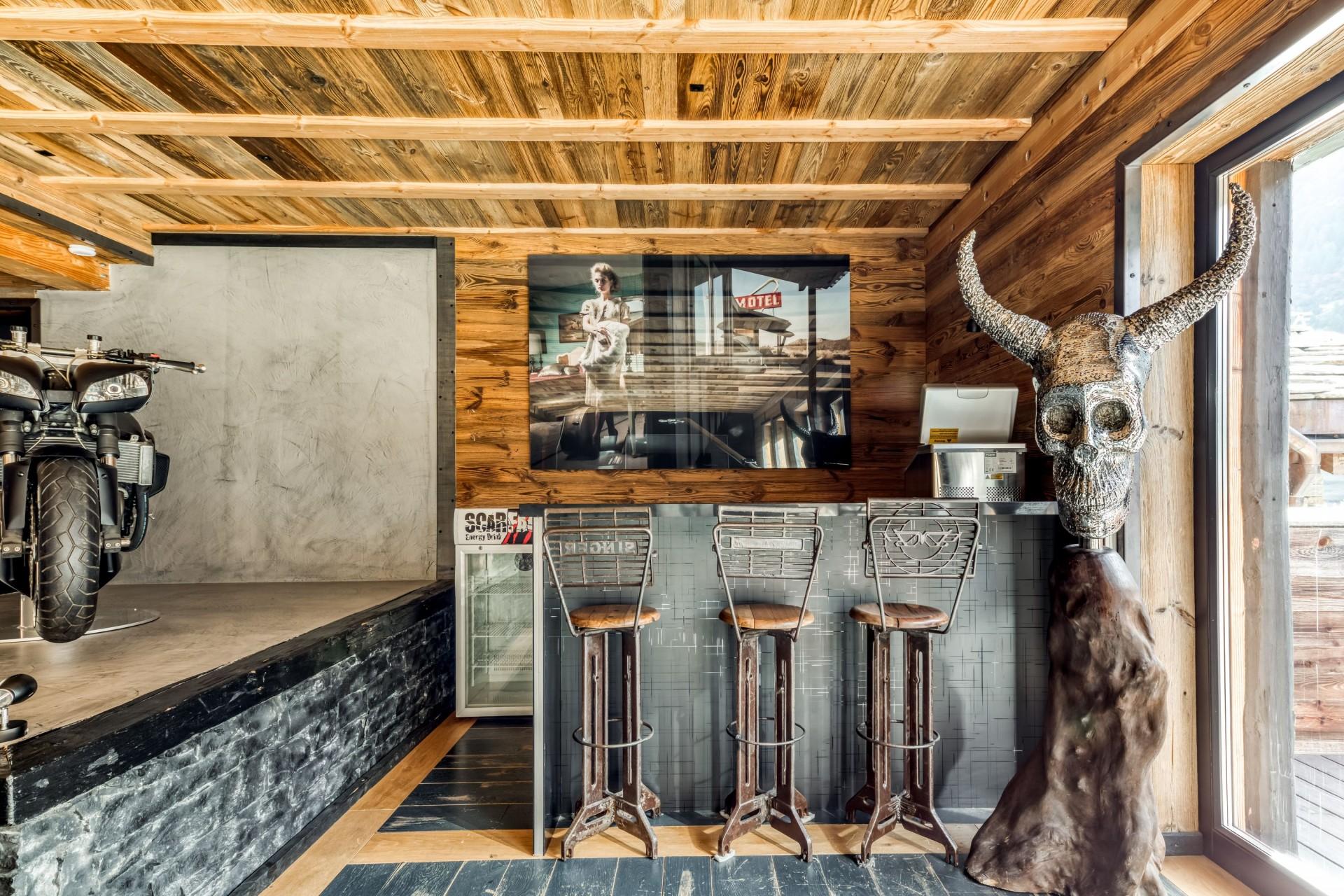 Tignes Location Chalet Luxe Tavanite Bar