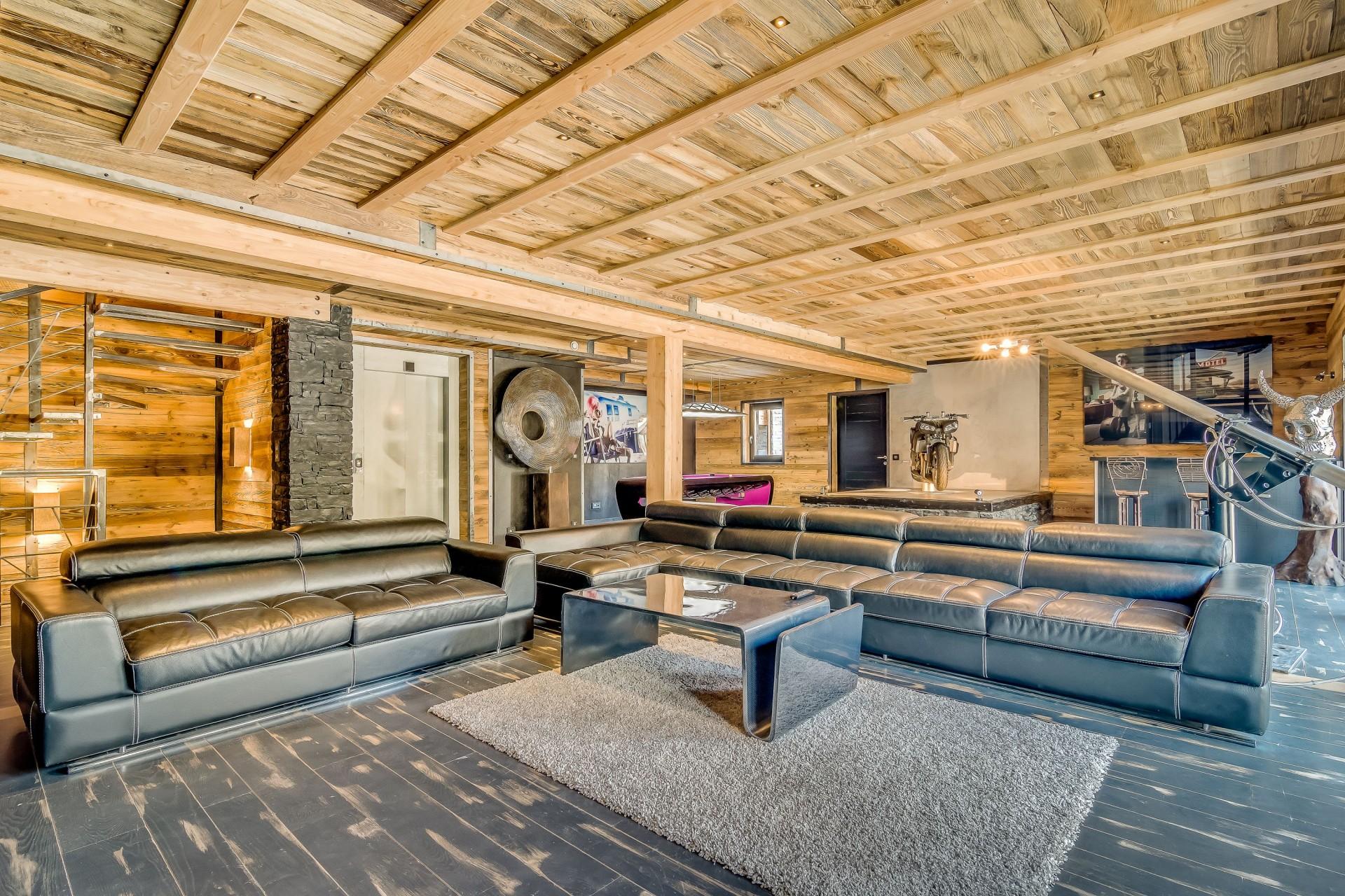 Tignes Location Chalet Luxe Tavanite Salon