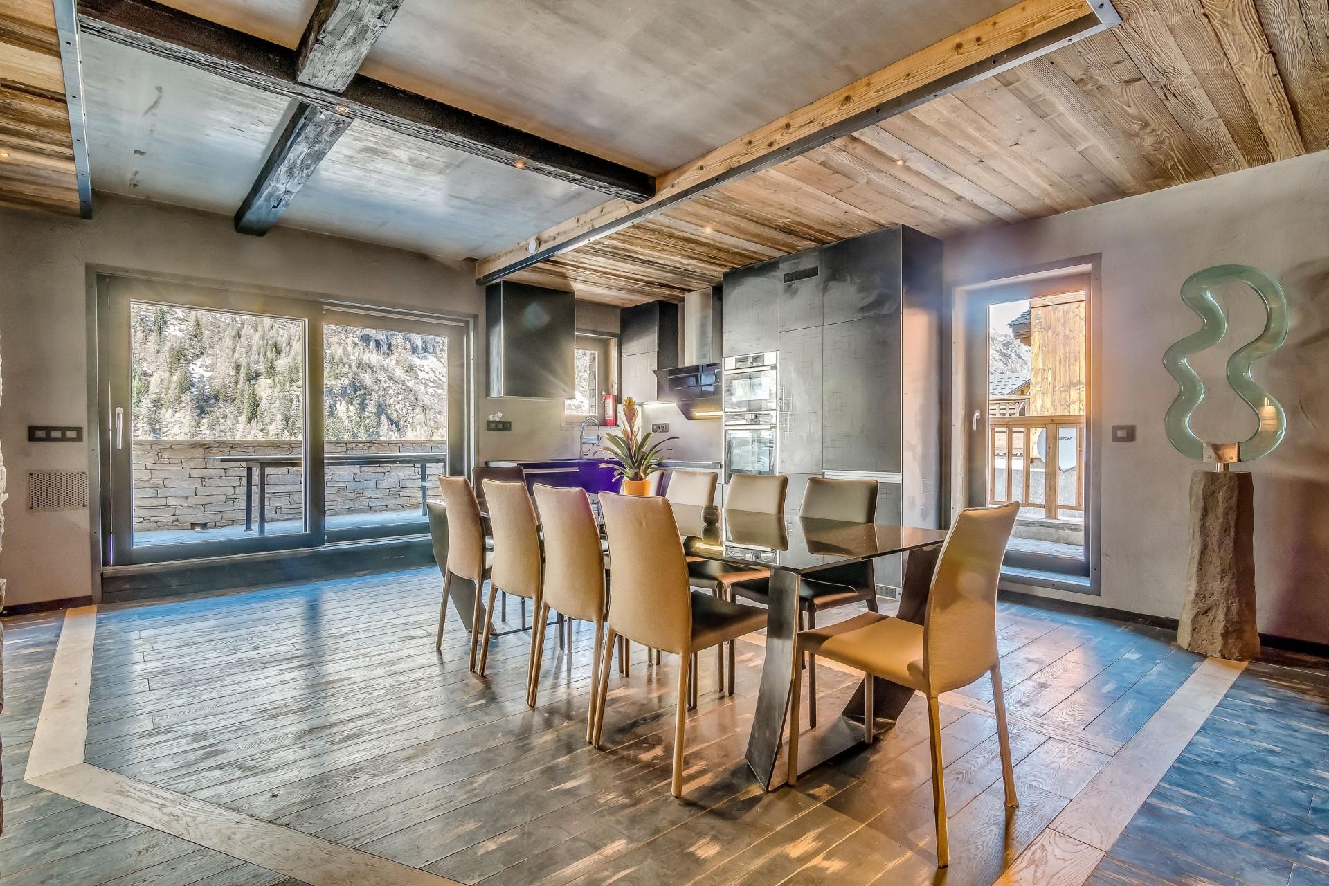 Tignes Location Chalet Luxe Tavanite Table A Manger