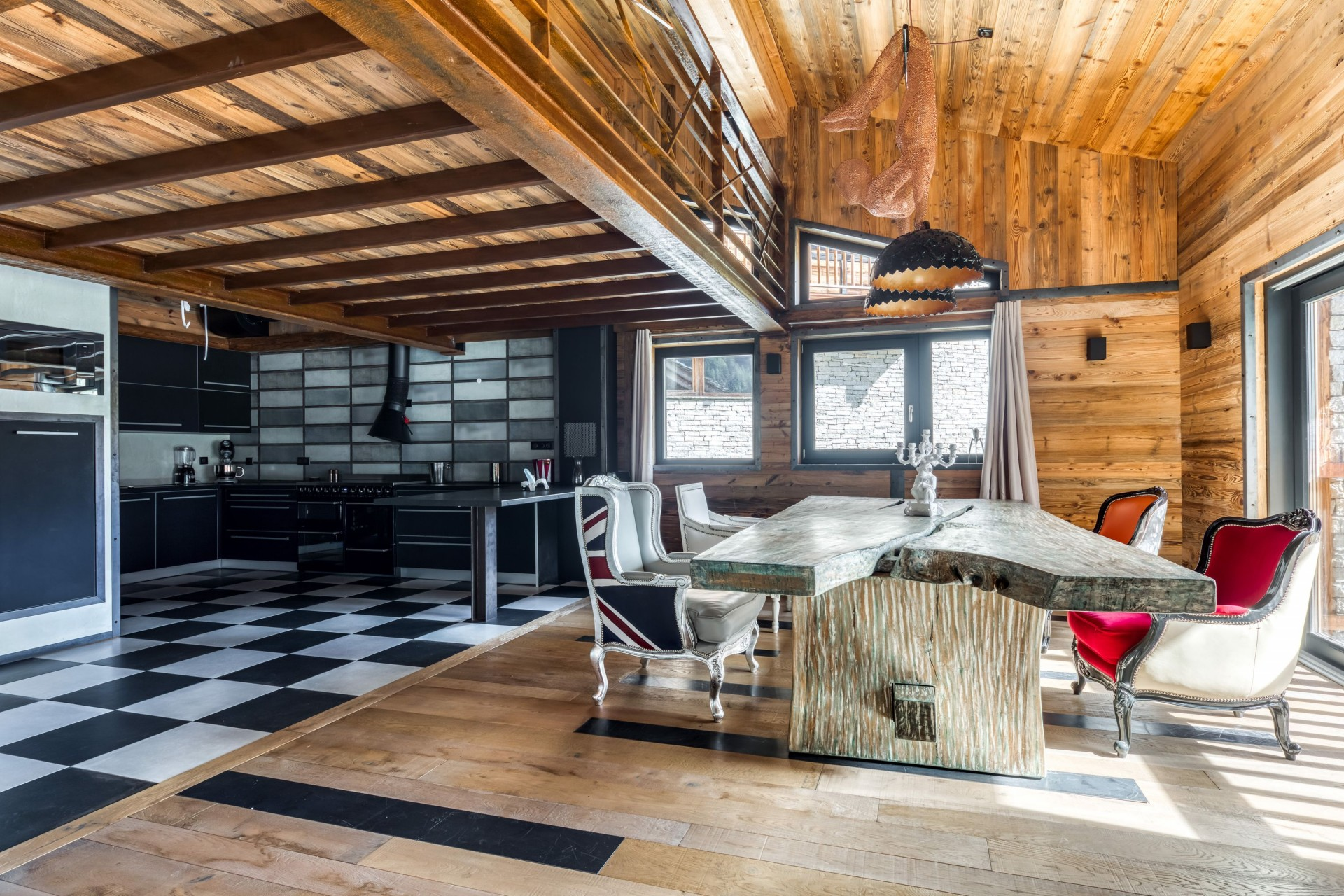 Tignes Location Chalet Luxe Tecala Salle A Manger