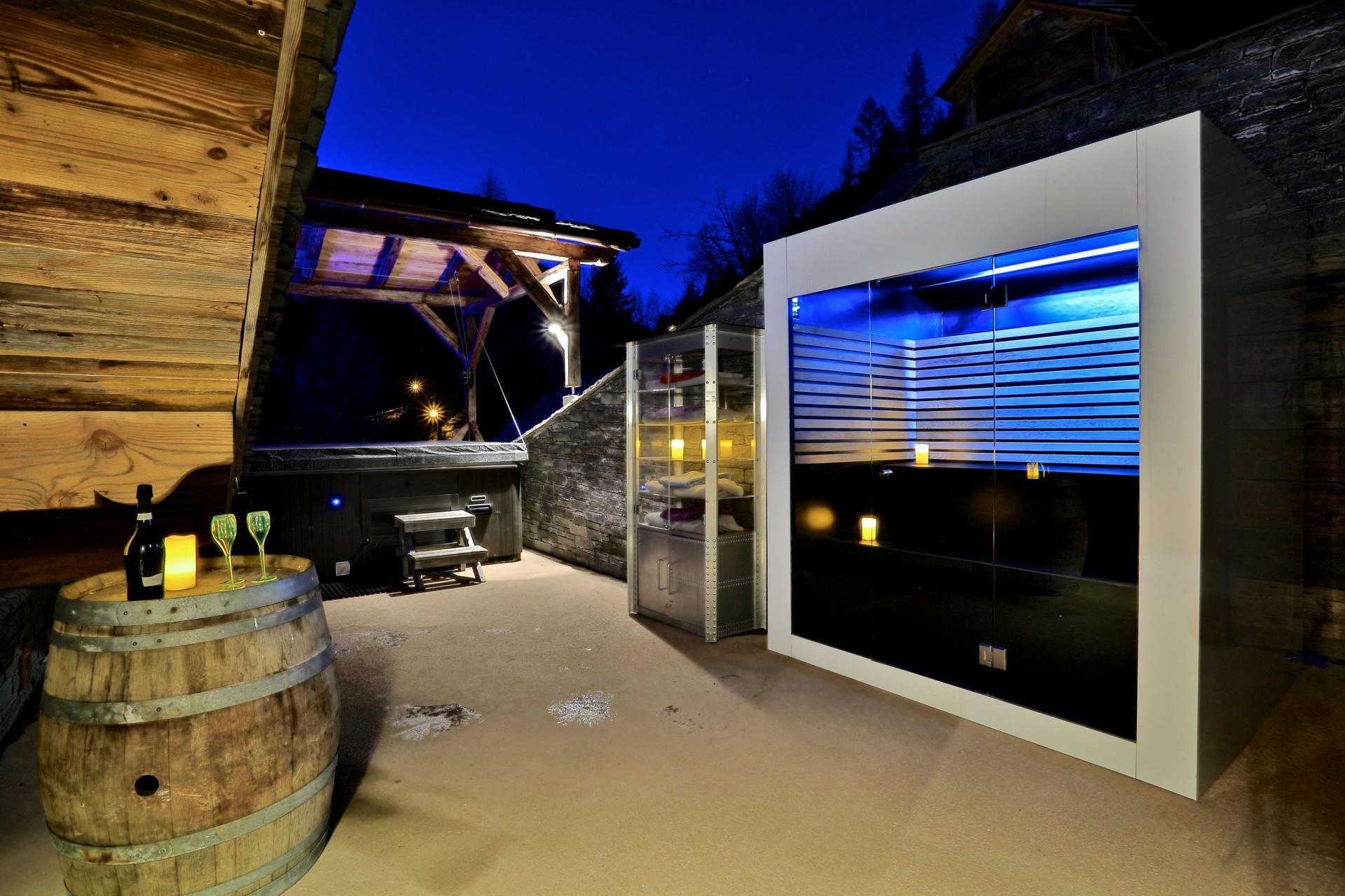 Tignes Location Chalet Luxe Tirodite Sauna