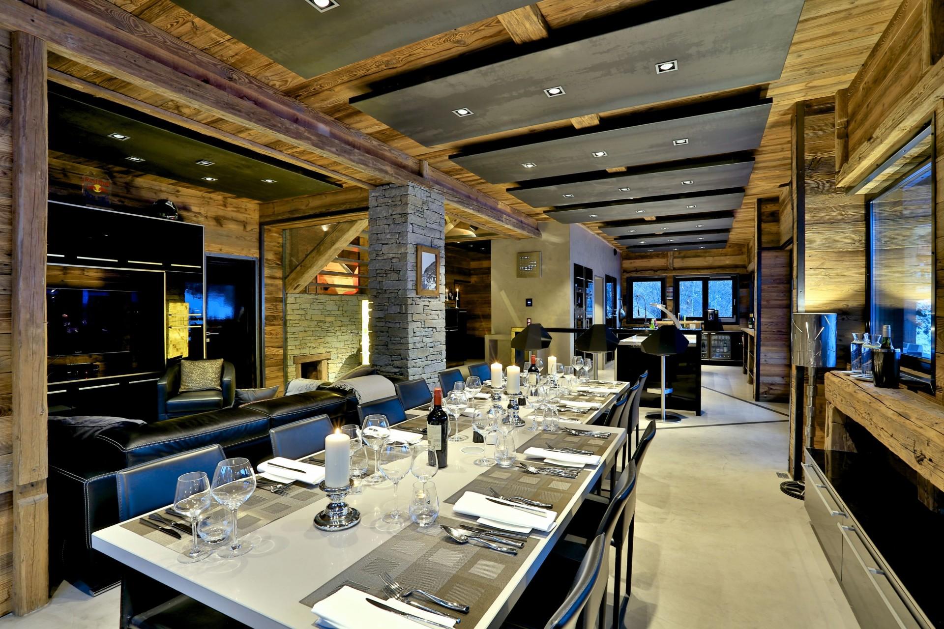 Tignes Location Chalet Luxe Tirodite Table Manger