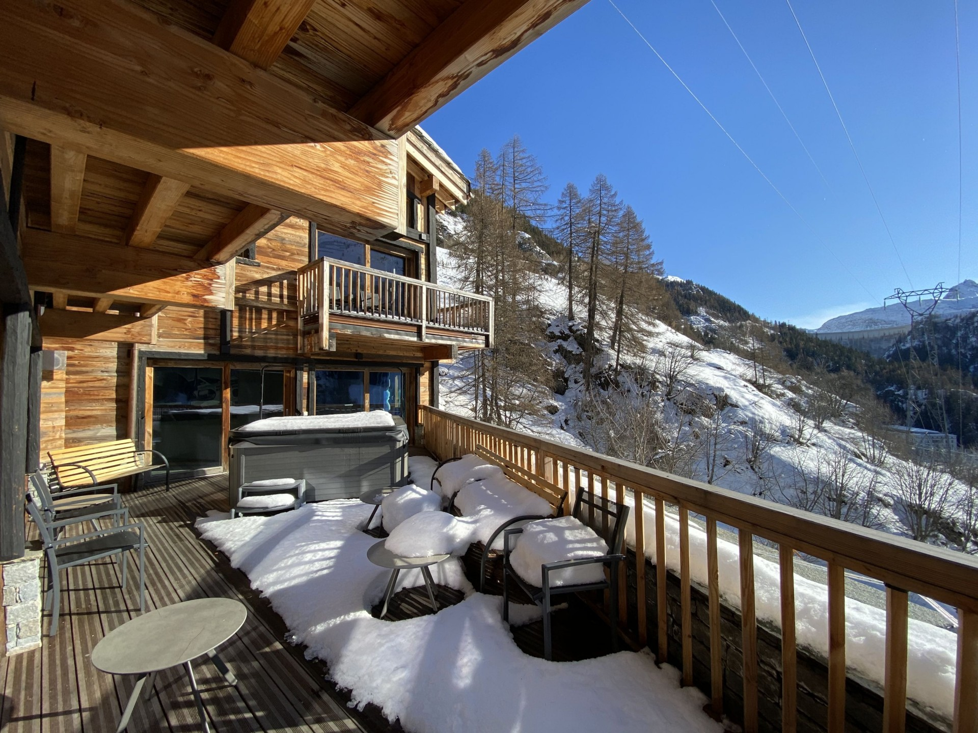 Tignes Location Chalet Luxe Turquoize Terrasse