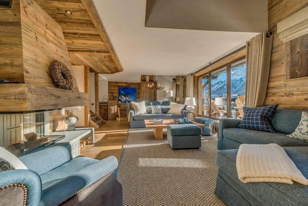 Val D'Isère Location Appartement Dans Résidence Luxe Elina Séjour