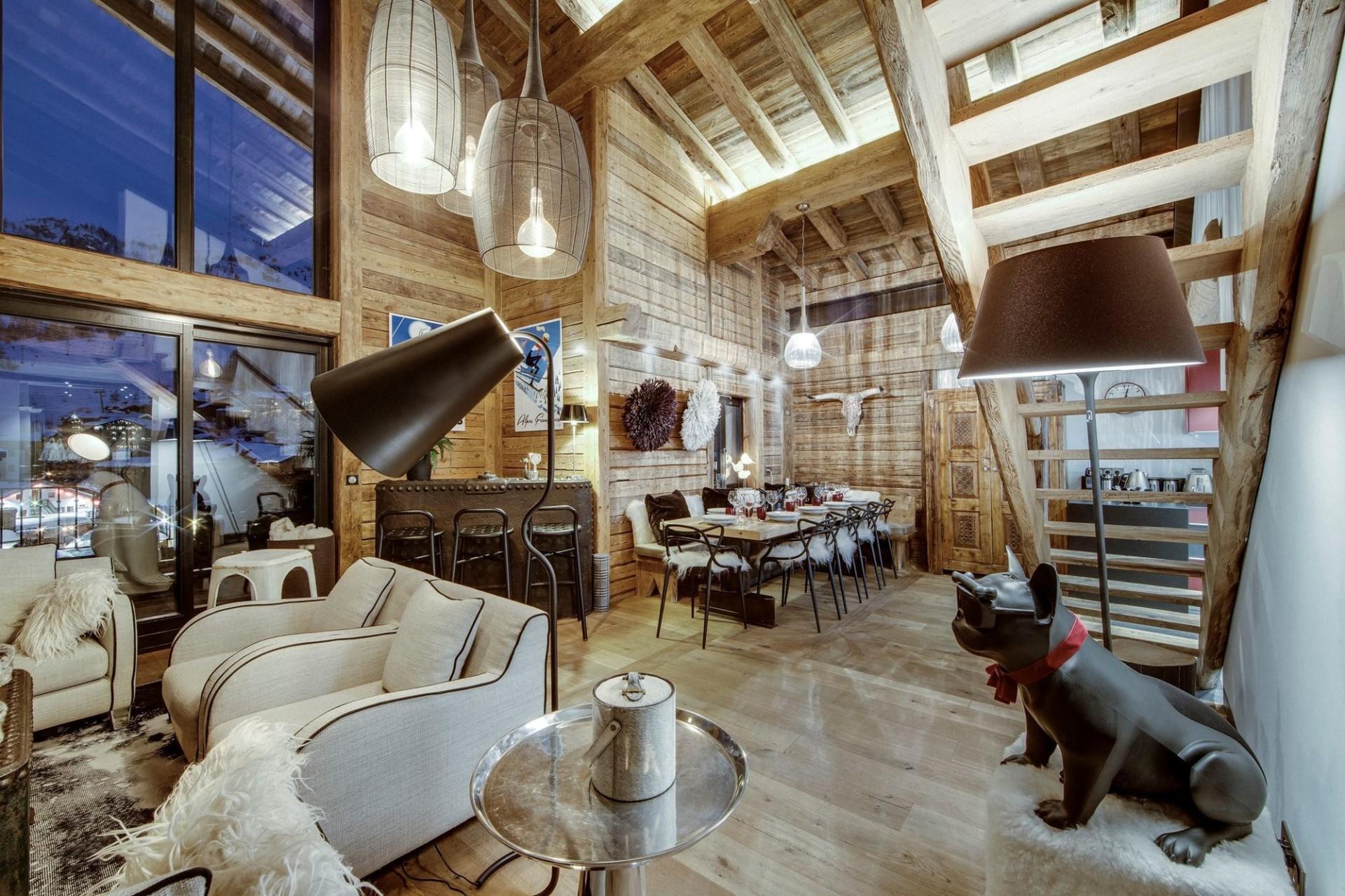 Val d'Isère Location Appartement Luxe Aramias Séjour 4