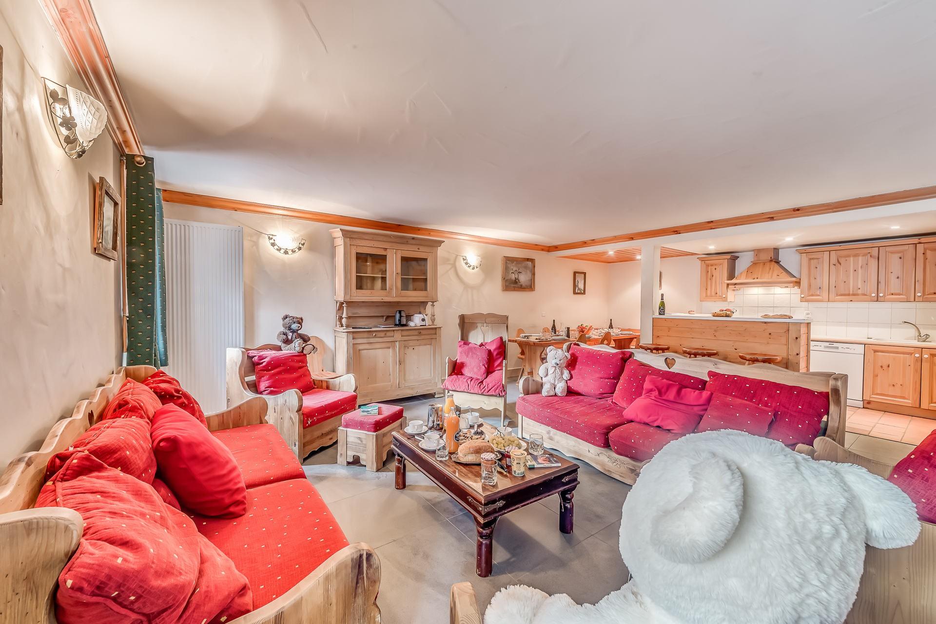 Val d'Isère Location Appartement Luxe Crankite Canapé