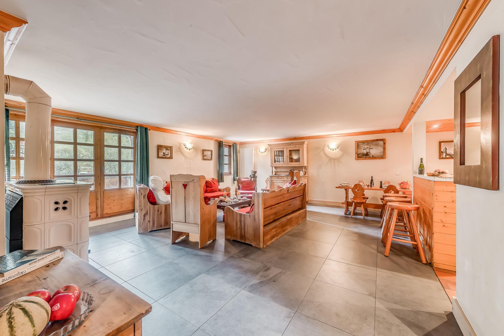 Val d'Isère Location Appartement Luxe Crankite Salon