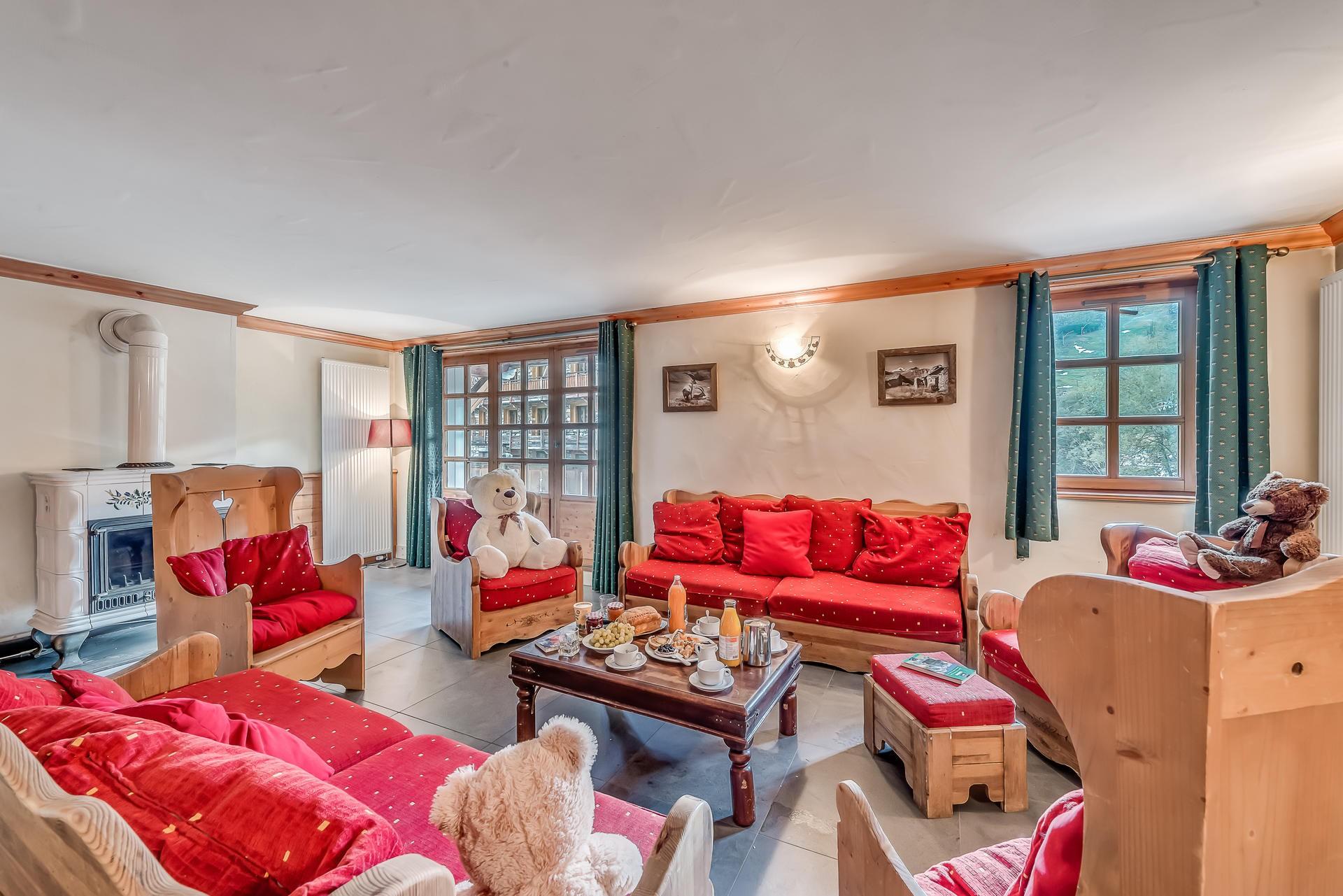 Val d'Isère Location Appartement Luxe Crankite Séjour