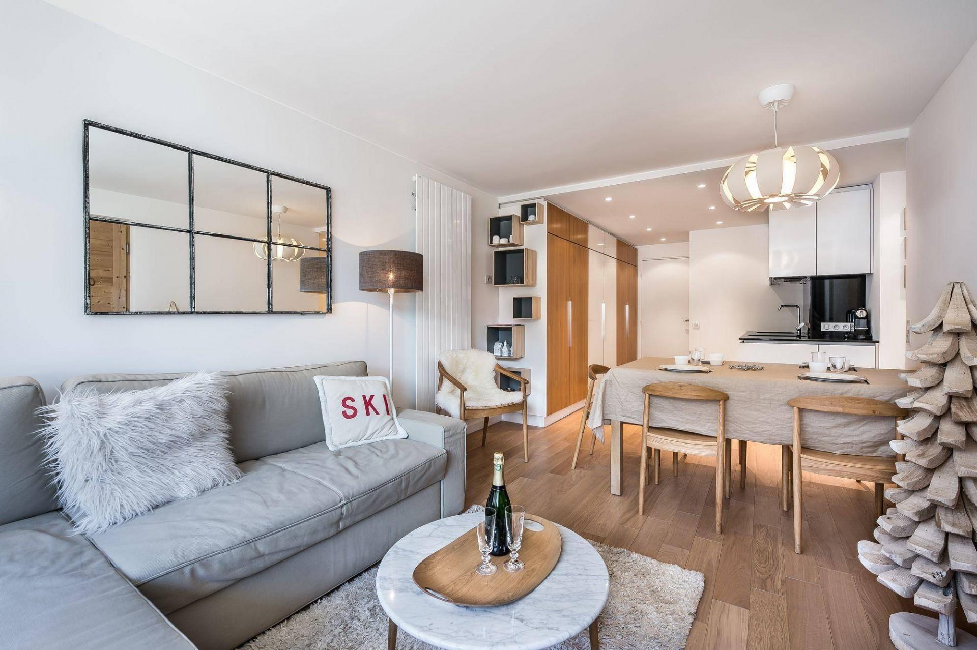 Val d'Isère Luxury Rental Appartment Eclaite Living Area
