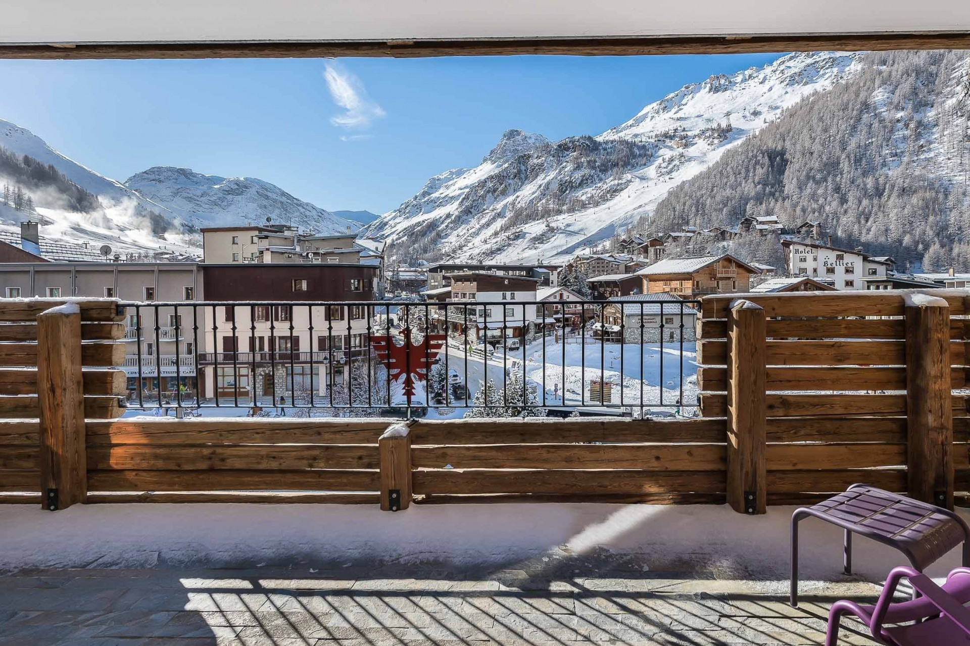 Val d'Isère Location Appartement Luxe Ucelite Terrasse