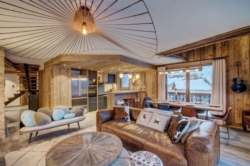 Val d'Isère Location Appartement Luxe Ulalite Séjour