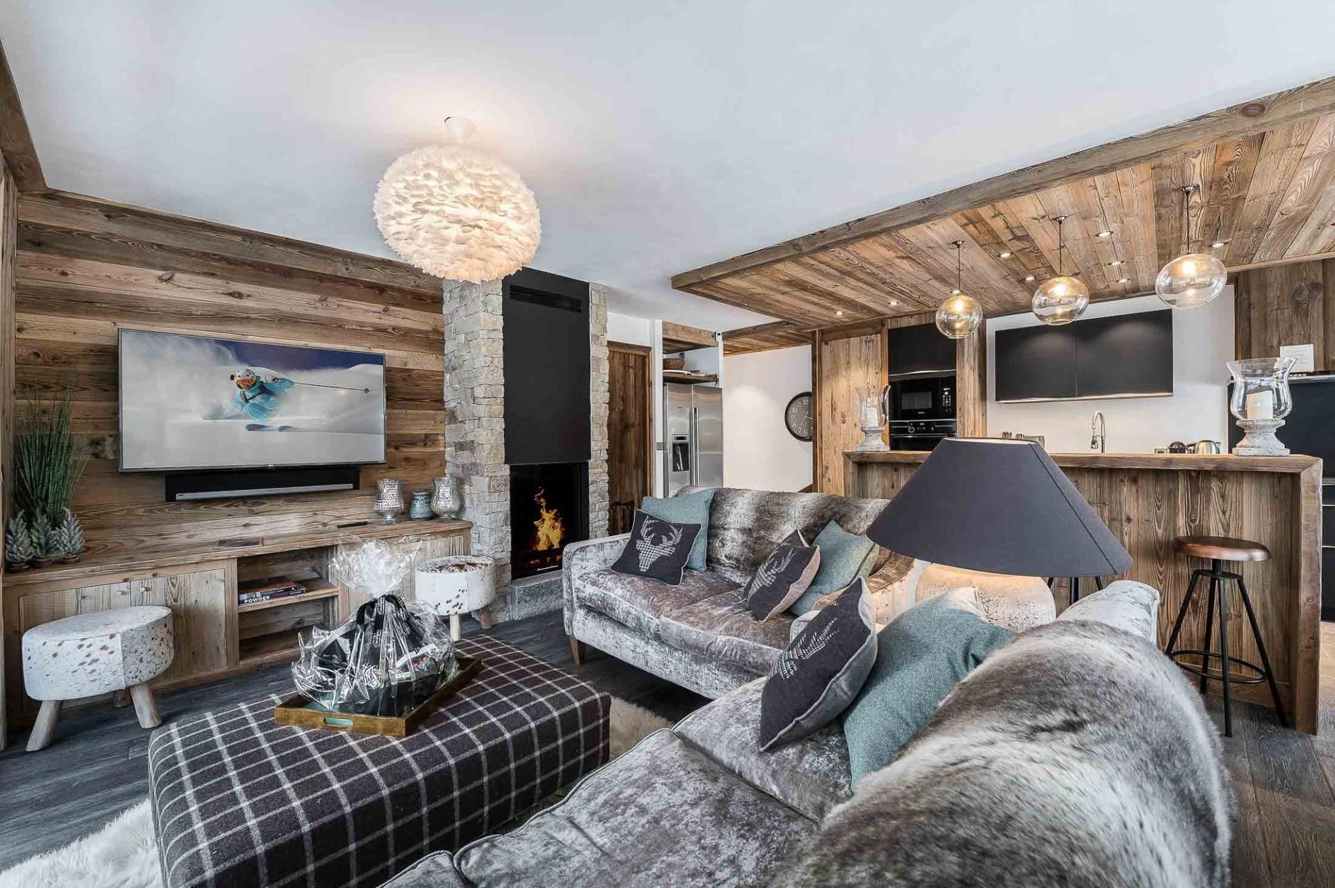 Val d'Isère Location Appartement Luxe Ulilite Séjour