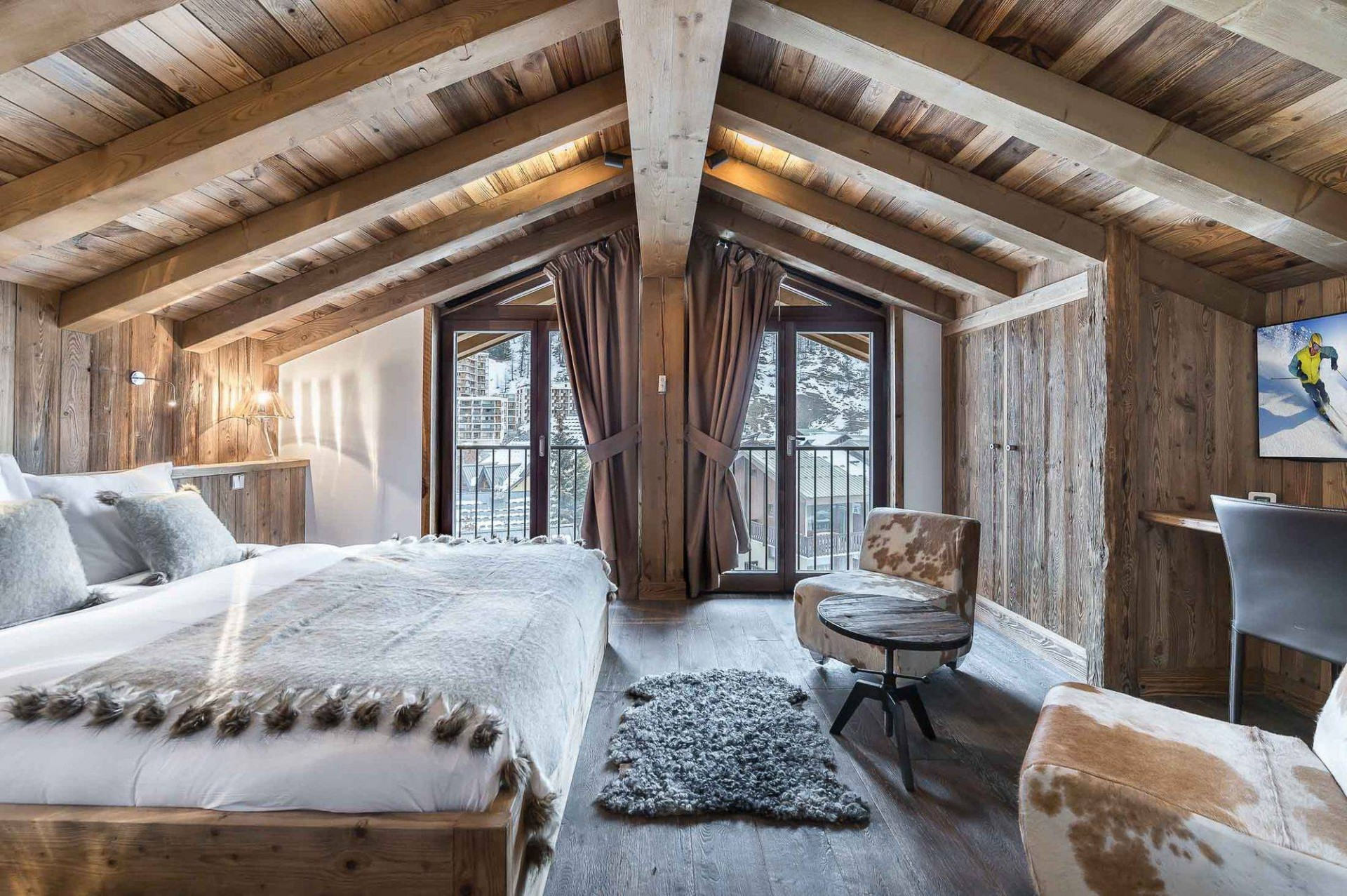 Val d'Isère Location Appartement Luxe Ulolite Chambre 3