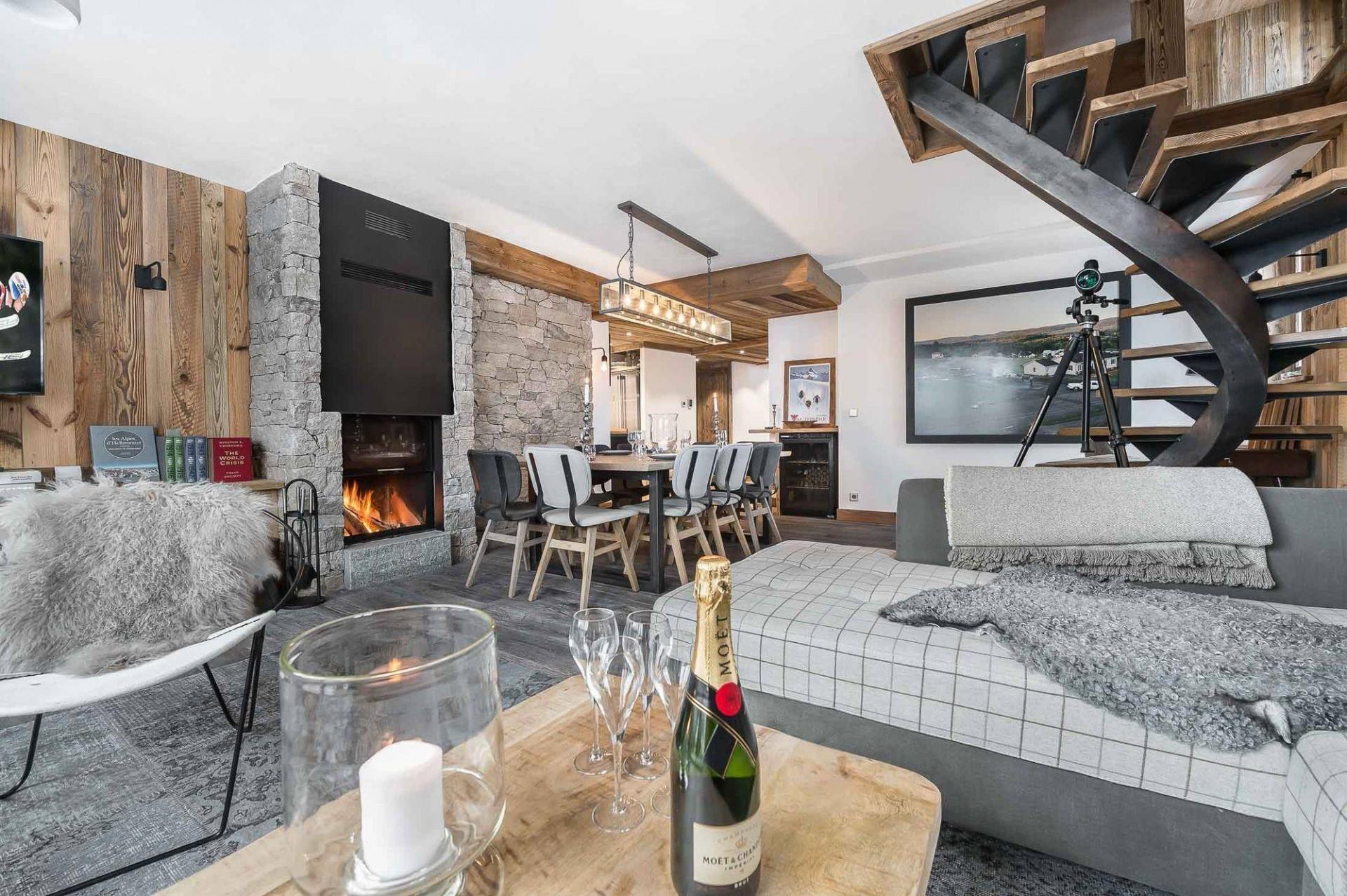 Val d'Isère Location Appartement Luxe Ulolite Séjour 2